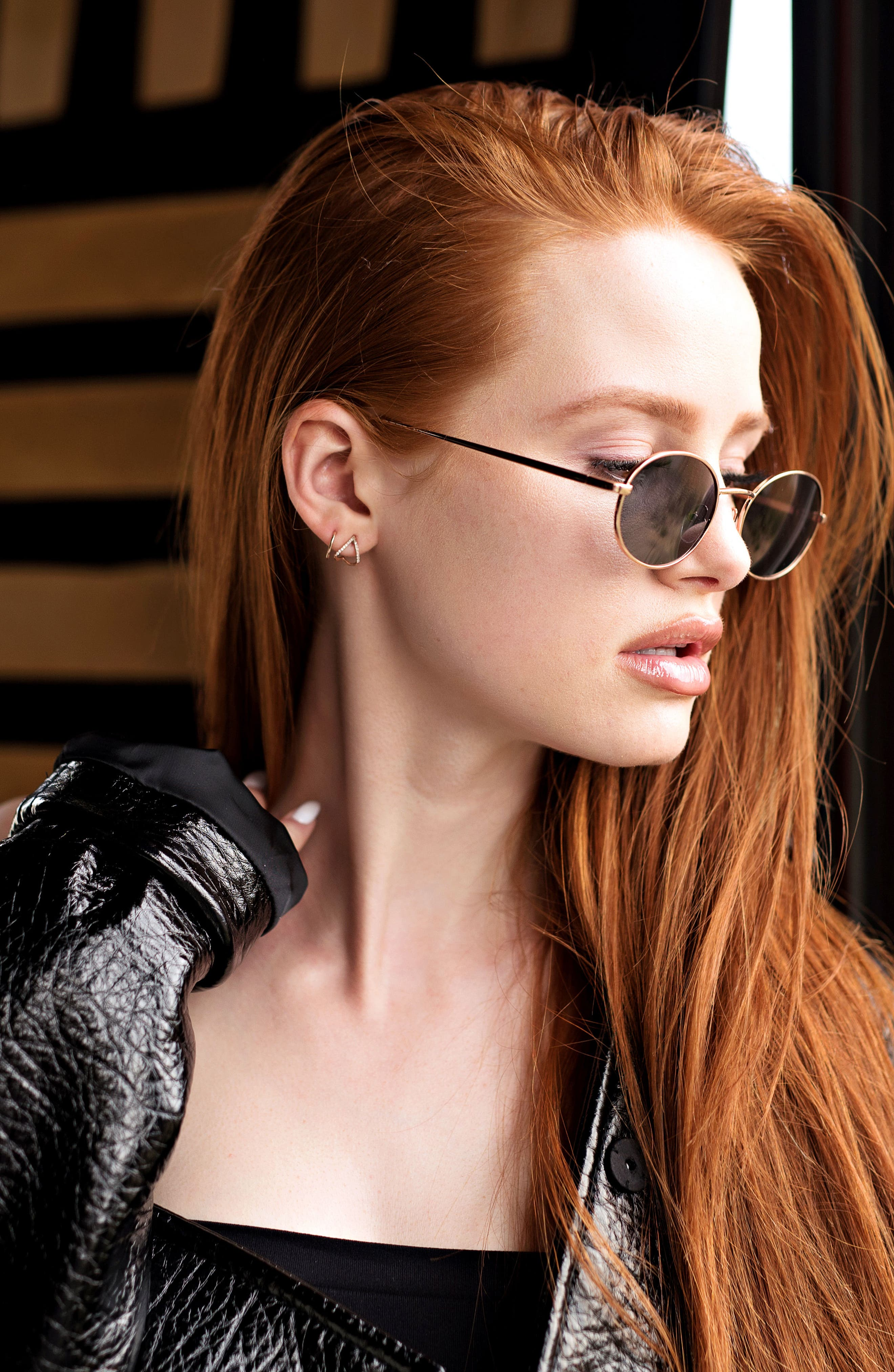 Privé Revaux x Madelaine Petsch The Candy 50mm Round Sunglasses,                             Alternate thumbnail 2, color,                             Gold/ Smoke