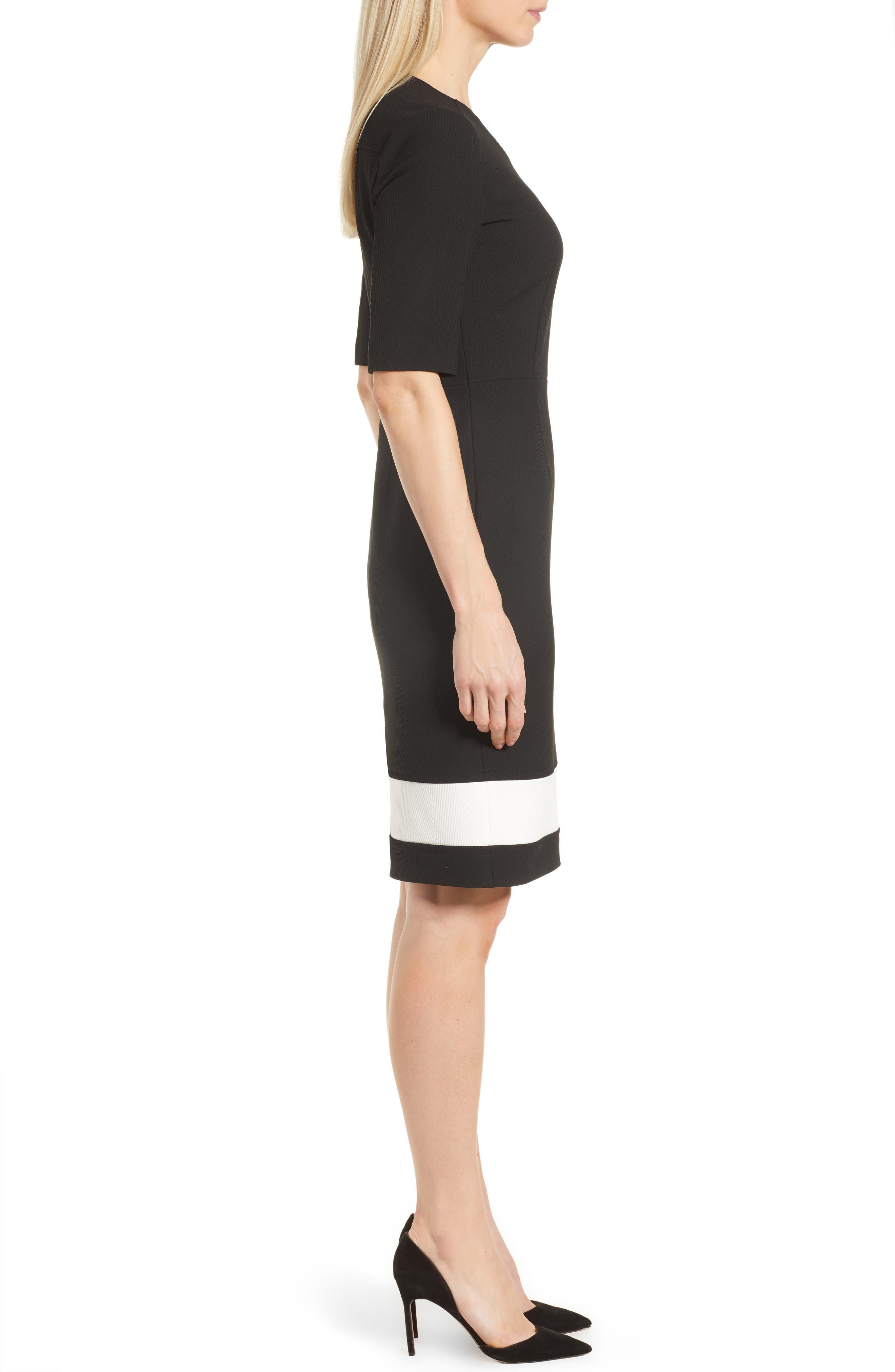 Dasmia Sheath Dress,                             Alternate thumbnail 3, color,                             Black