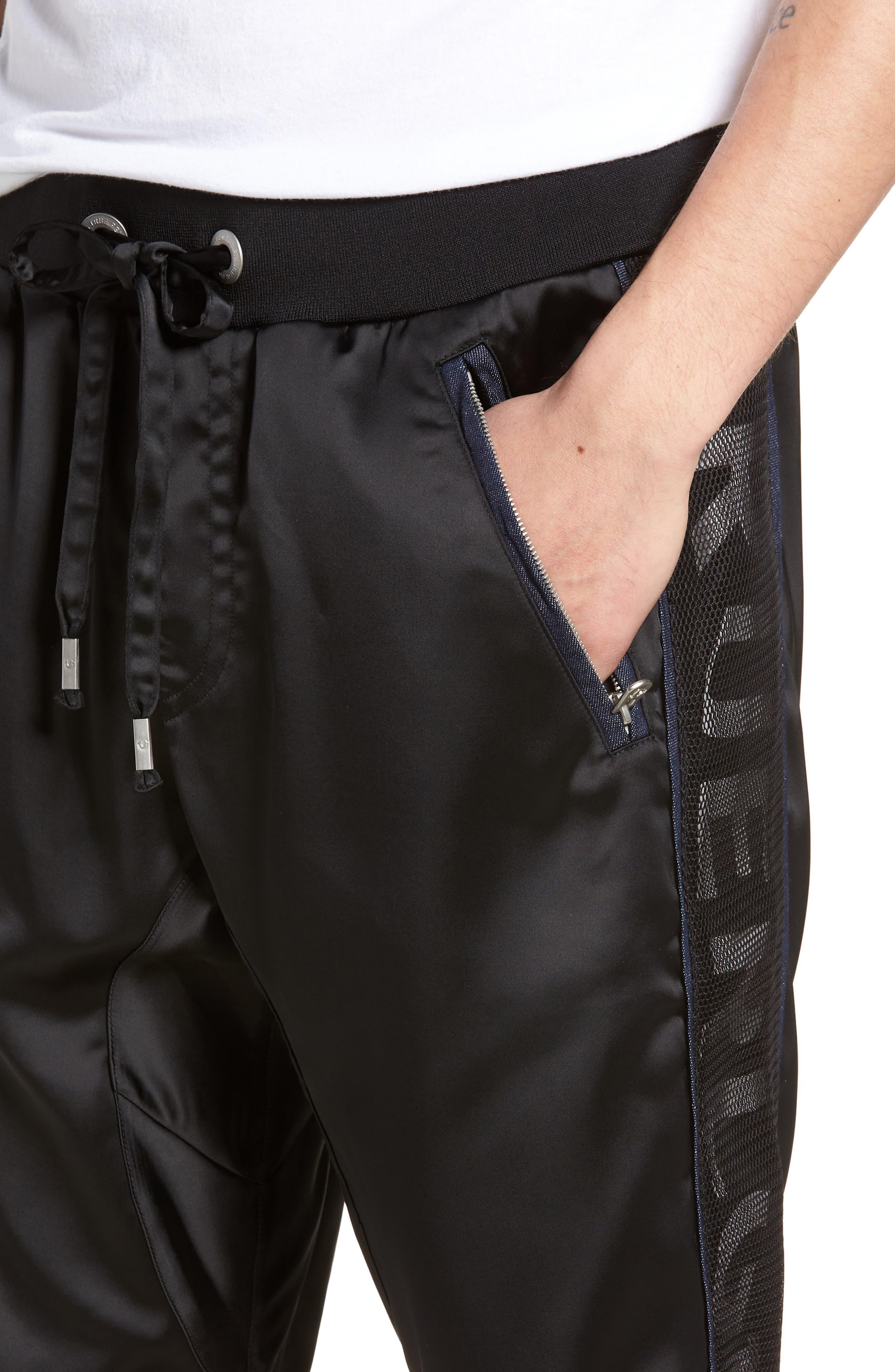 Satin Shorts,                             Alternate thumbnail 4, color,                             Black