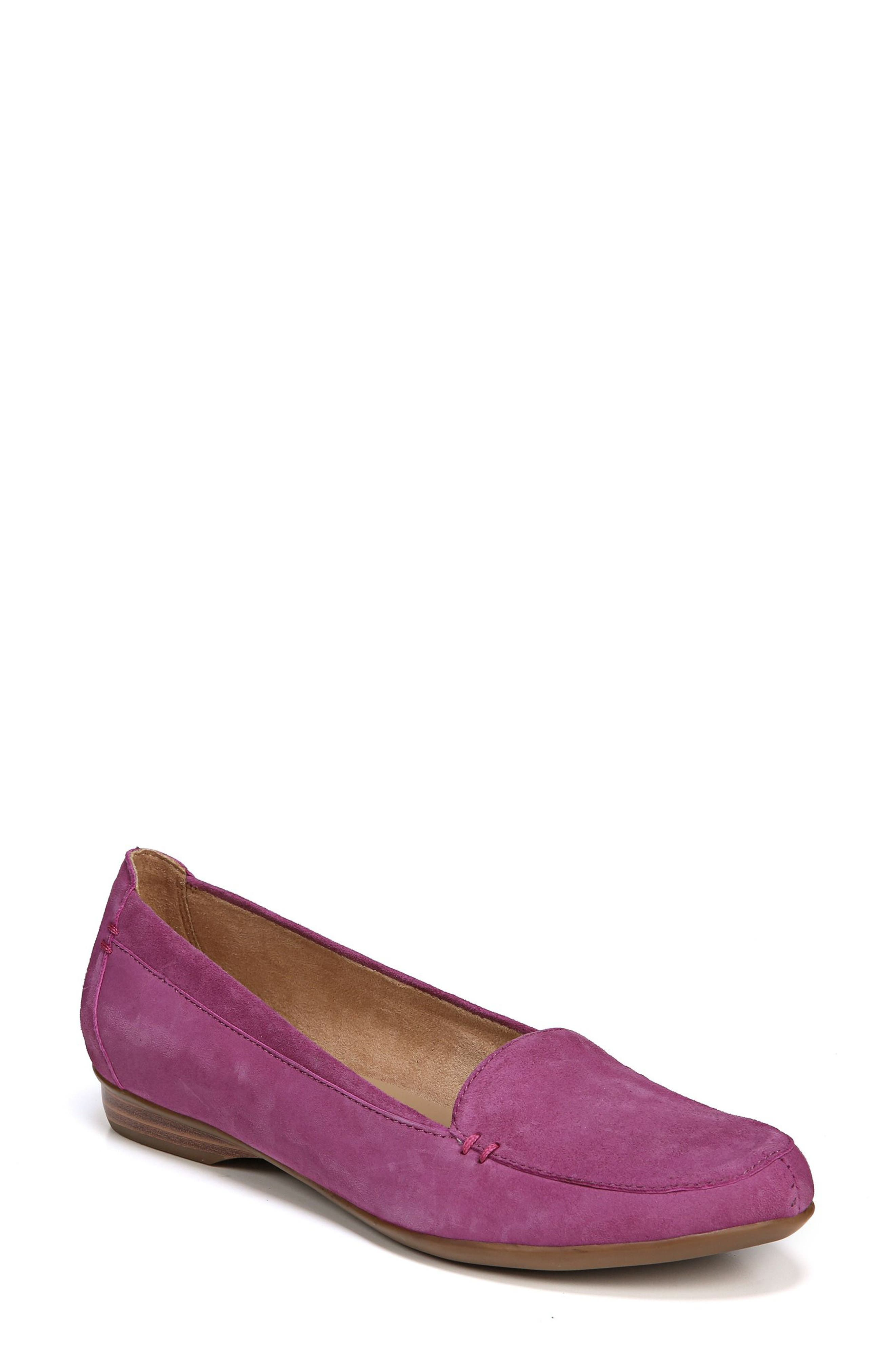 'Saban' Leather Loafer,                             Main thumbnail 1, color,                             Radiant Orchid Suede