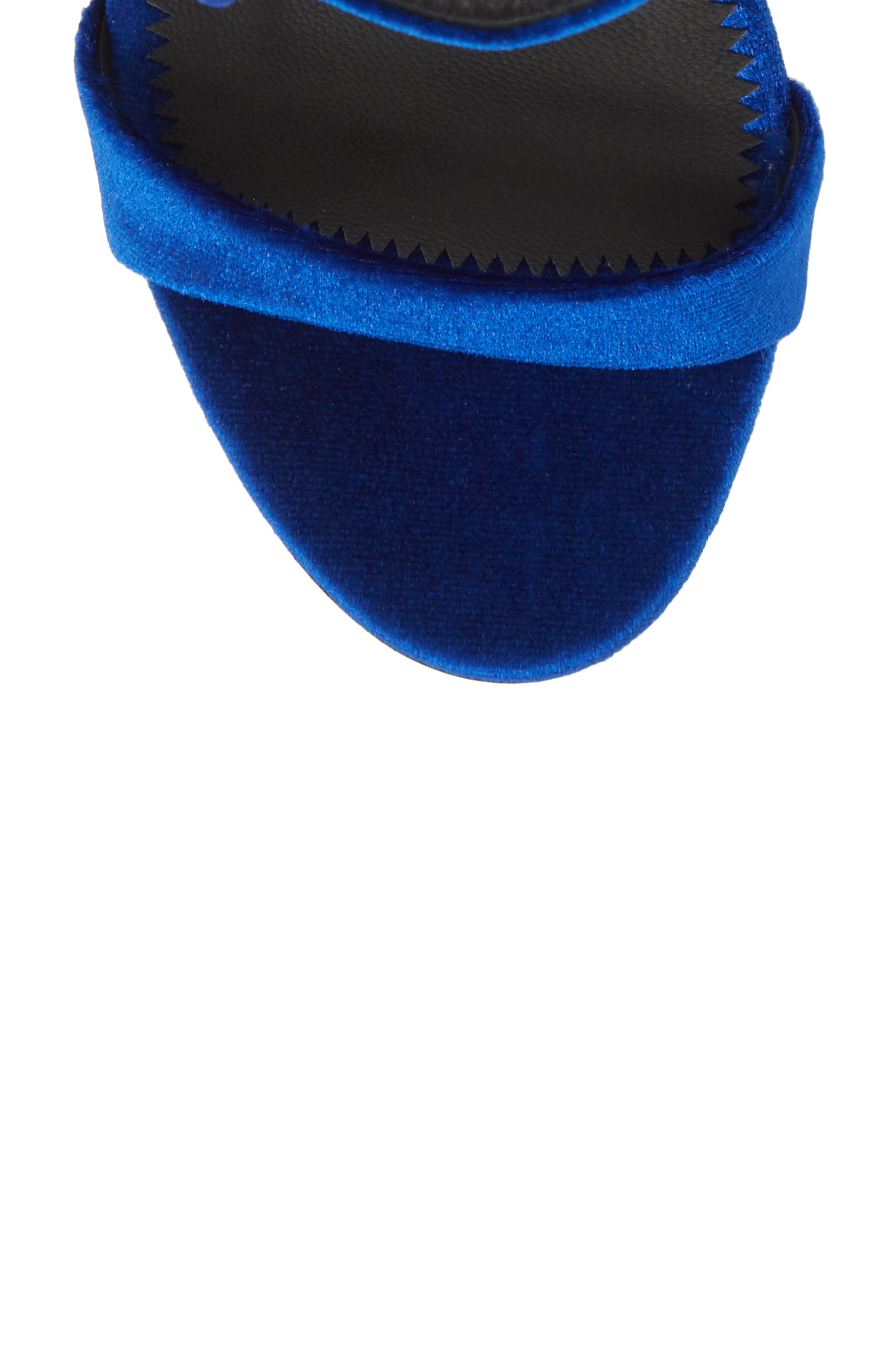 Crystal Embellished Sandal,                             Alternate thumbnail 5, color,                             Electric Blue