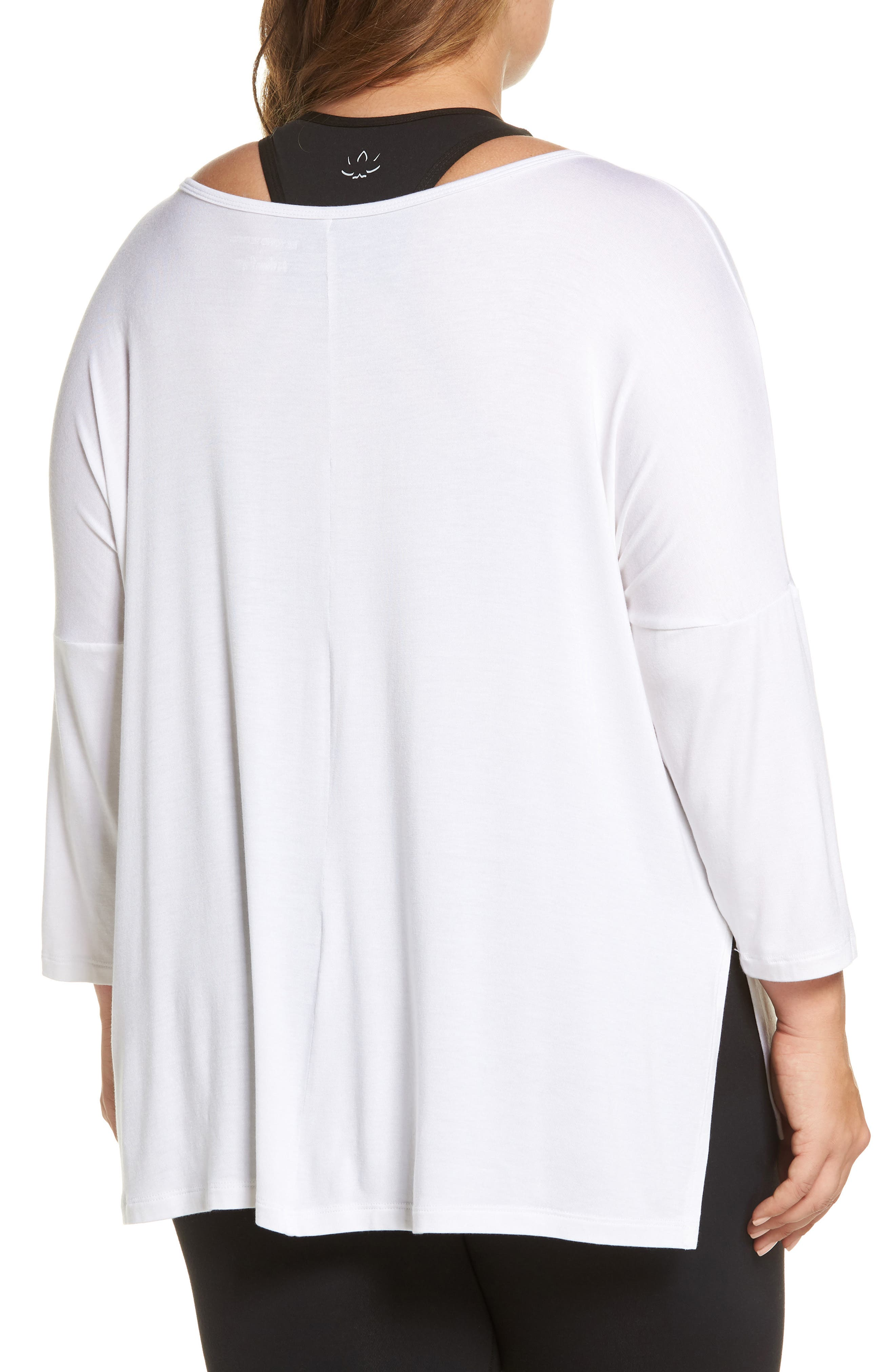 Slink It Boxy Pullover,                             Alternate thumbnail 2, color,                             White