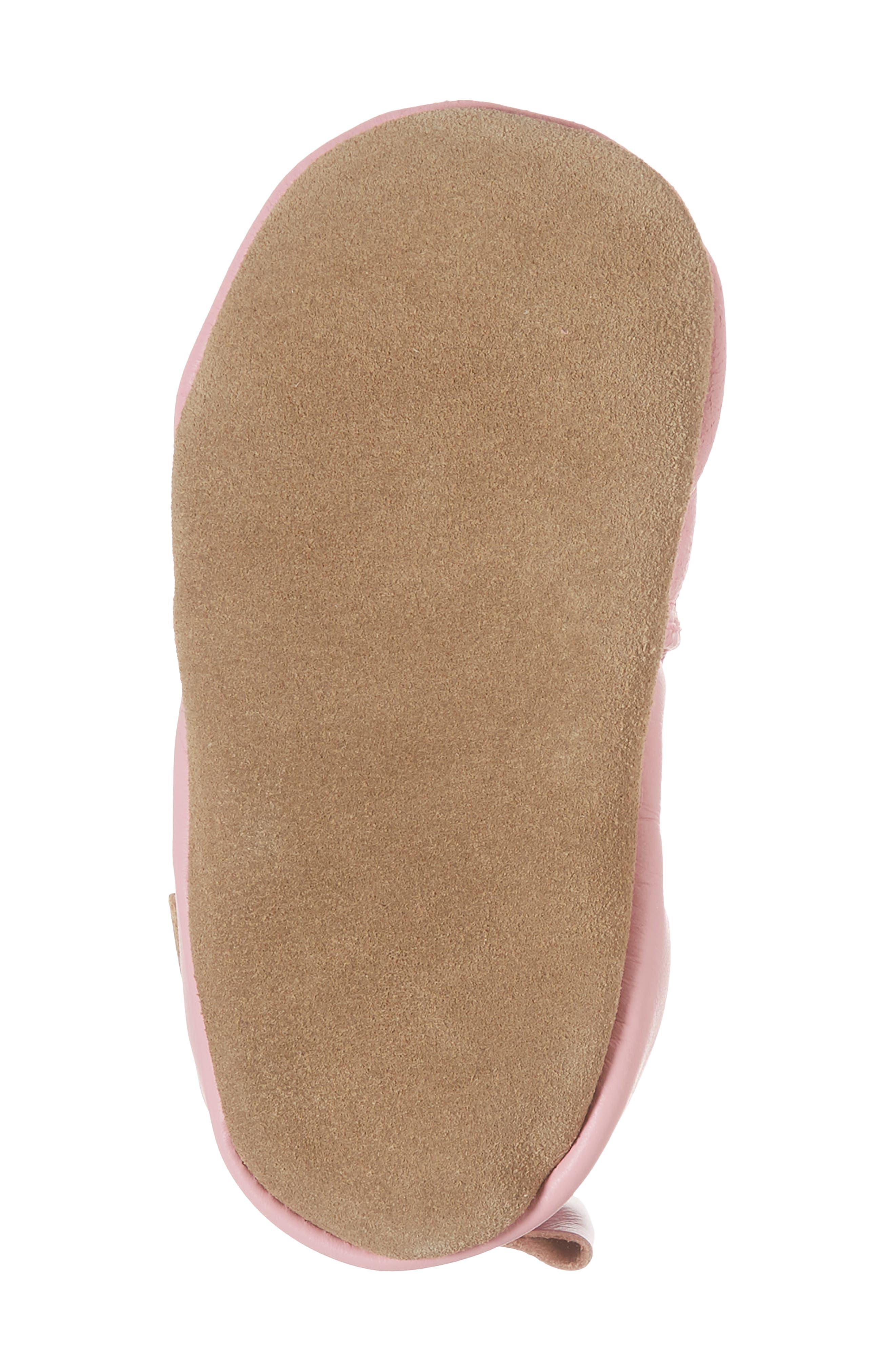 Sweet Bunny Moccasin Crib Shoe,                             Alternate thumbnail 6, color,                             Pastel Pink
