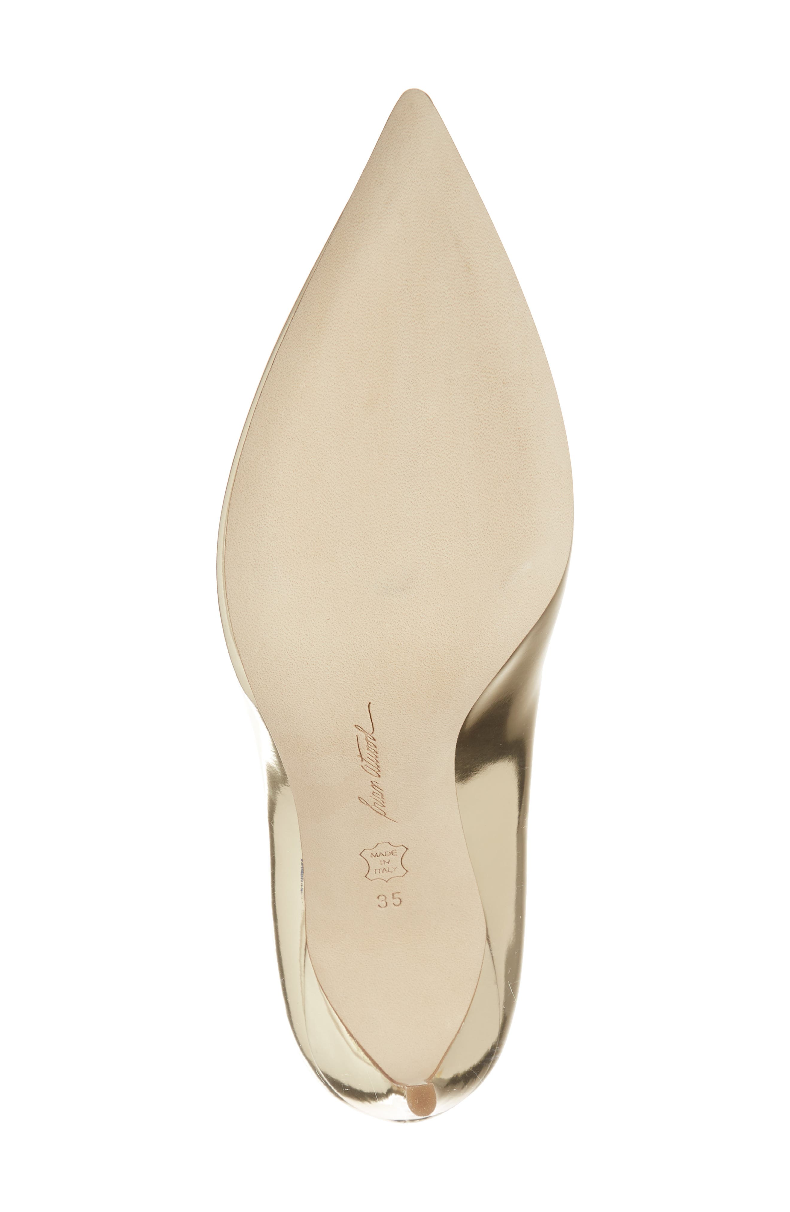 Valerie Pointy Toe Pump,                             Alternate thumbnail 6, color,                             Sahara Gold Specchio