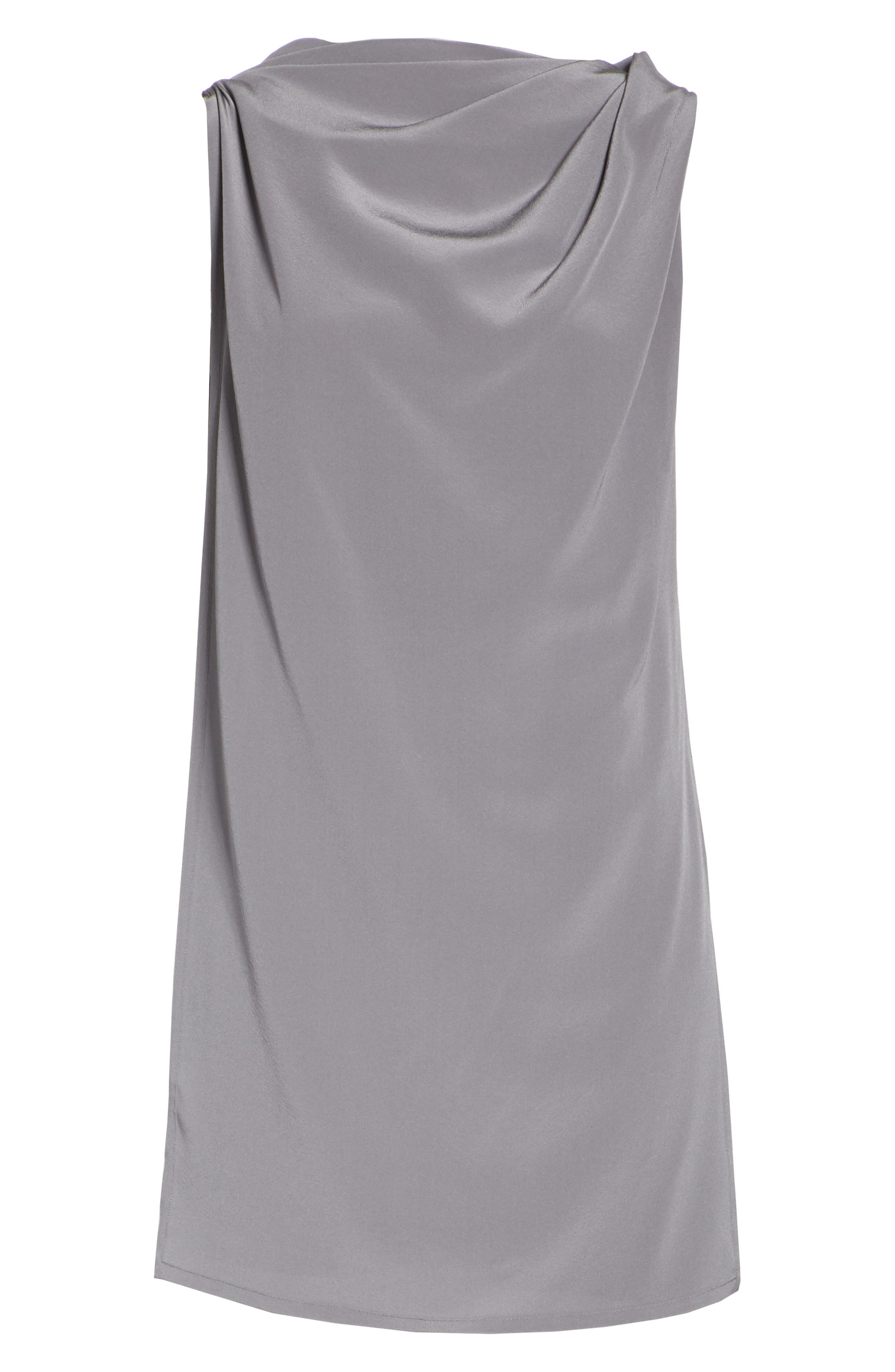 Draped Silk Tank Top,                             Alternate thumbnail 6, color,                             Grey