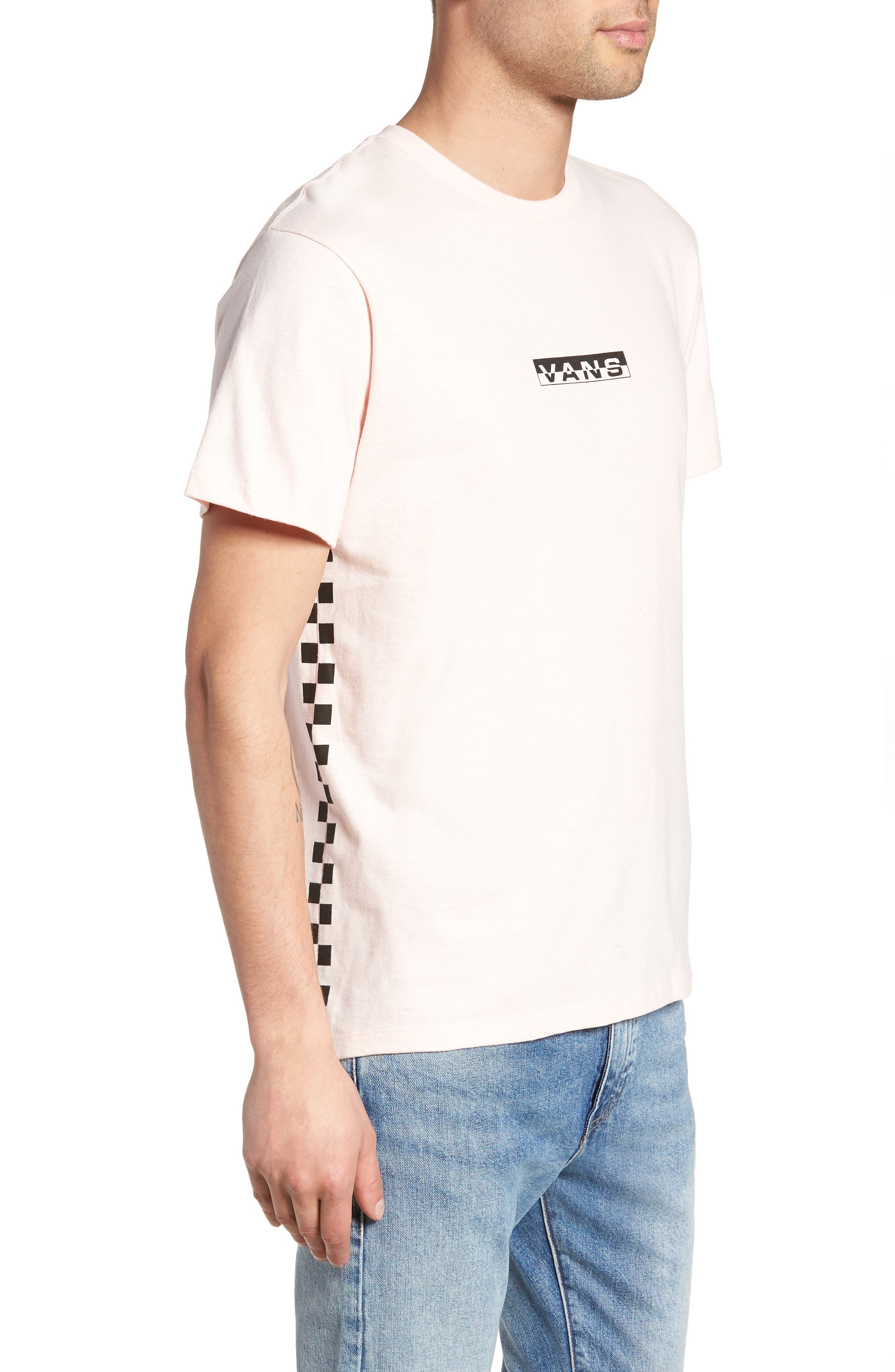 Classic Checkmate T-Shirt,                             Alternate thumbnail 3, color,                             Dull Rose