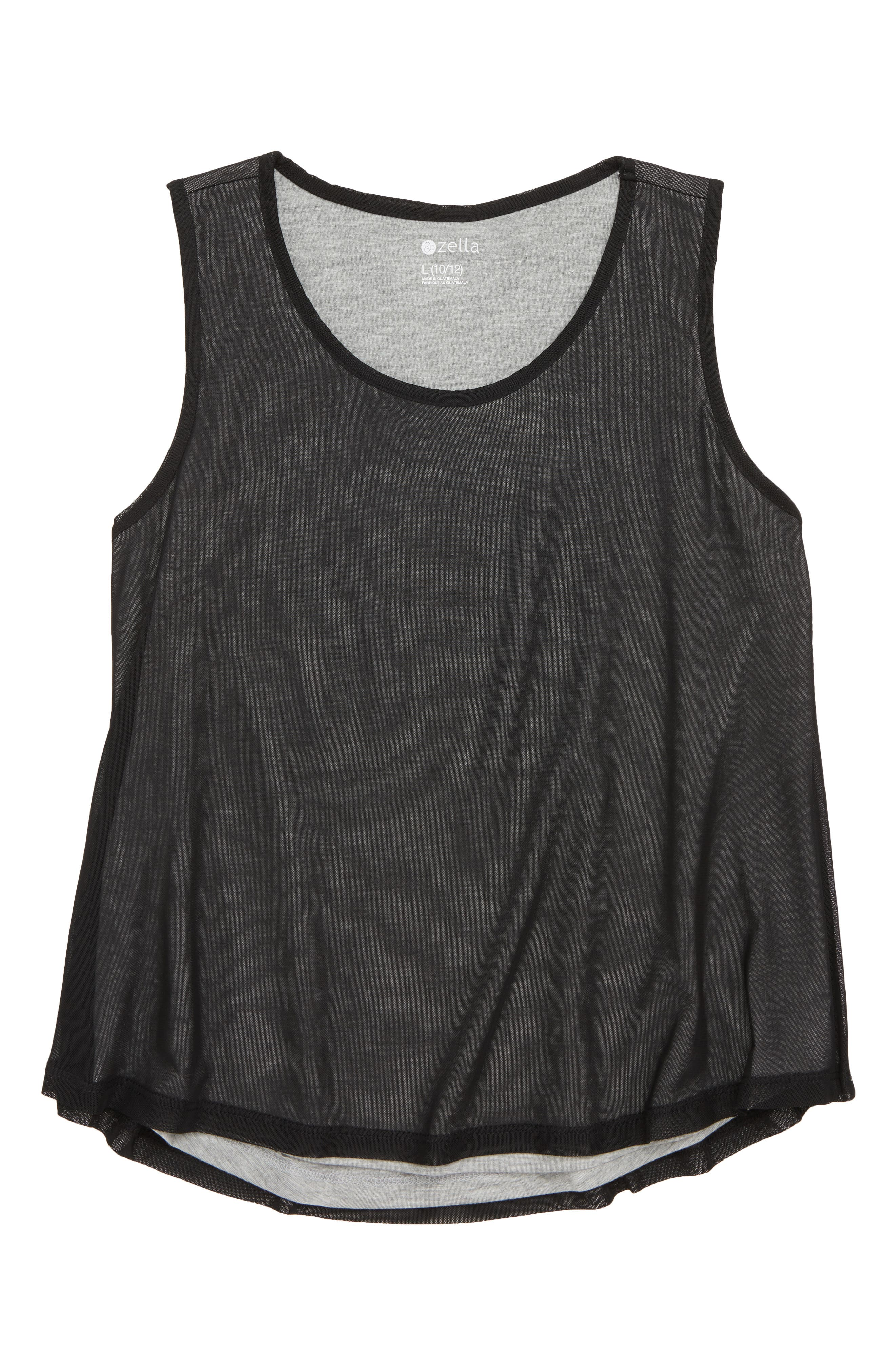 Zella Girl Sheer Form Tank (Little Girls & Big Girls)