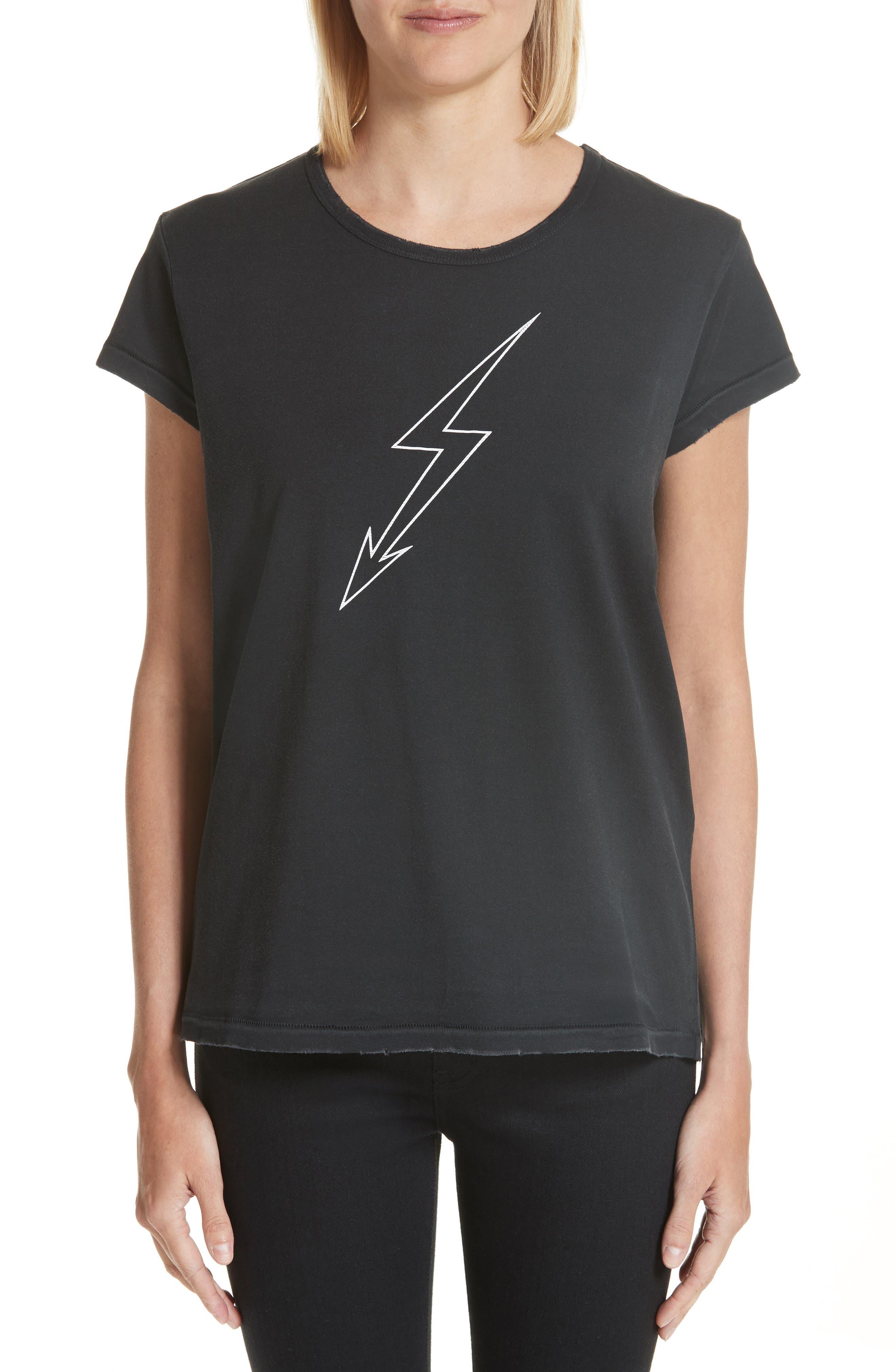Lightning Bolt Graphic Tee,                             Main thumbnail 1, color,                             Black
