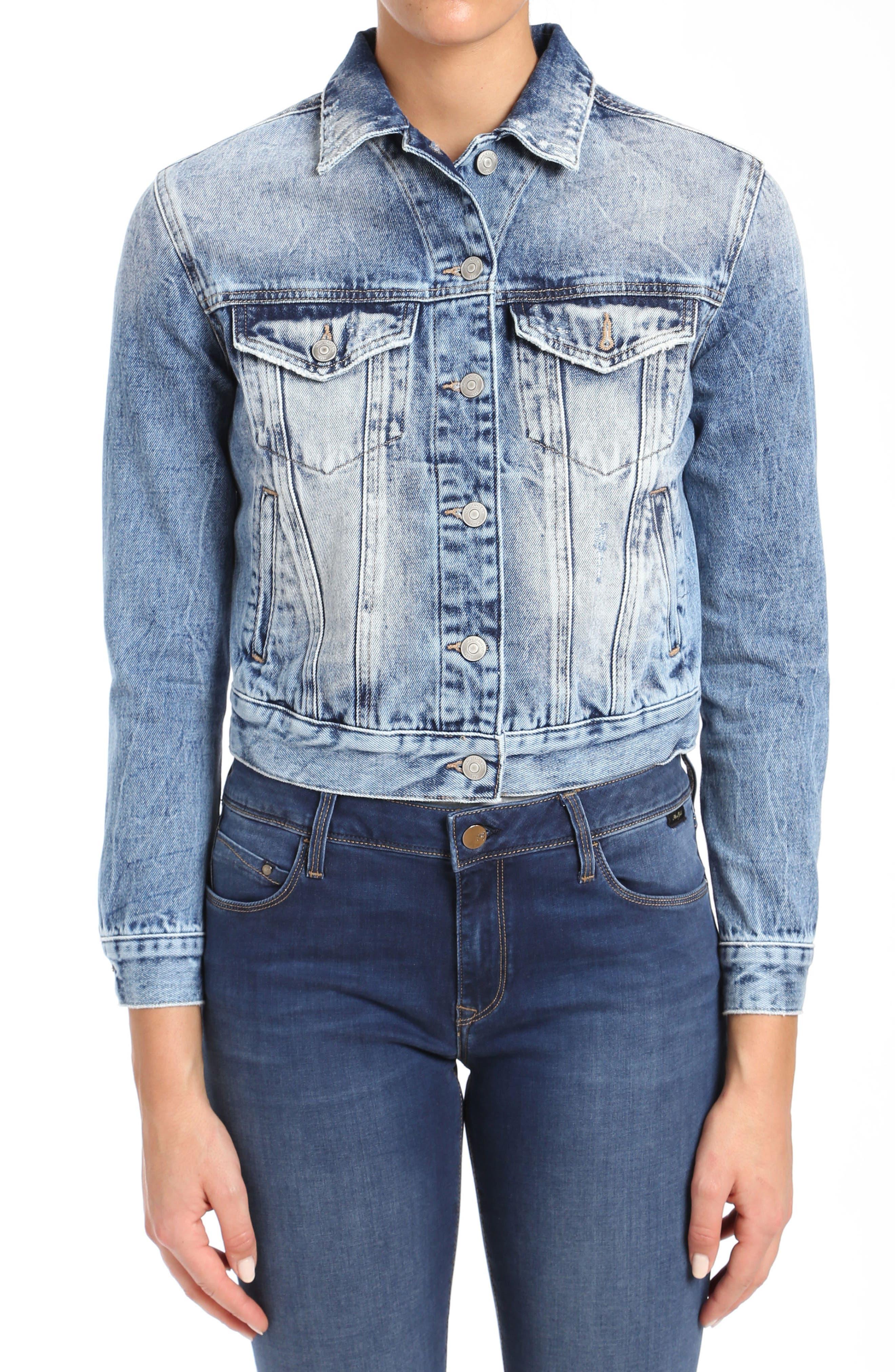 Mavi Jeans Tina Denim Jacket (Mid Cool)