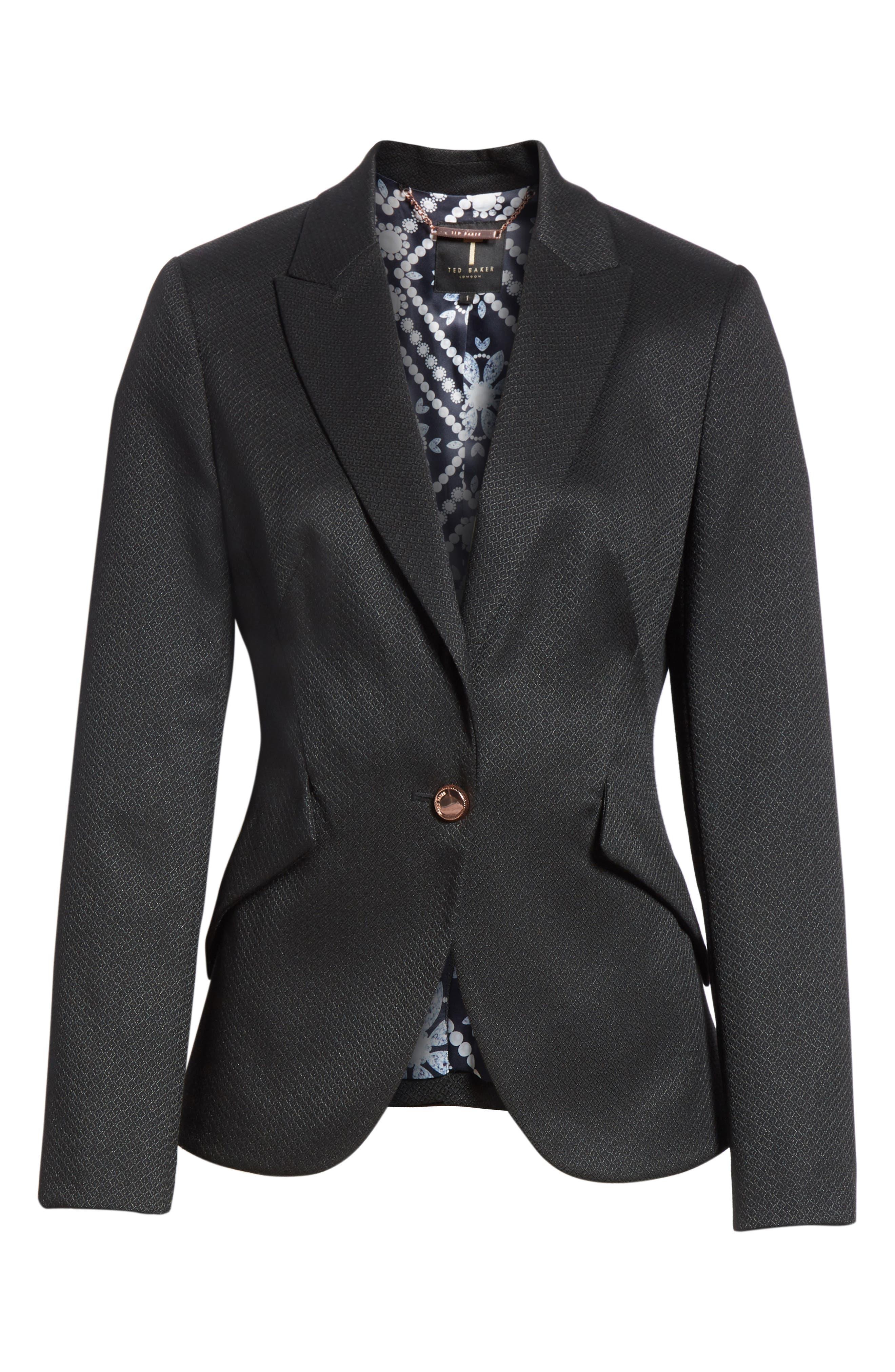 Textured Jacket,                             Alternate thumbnail 6, color,                             Black