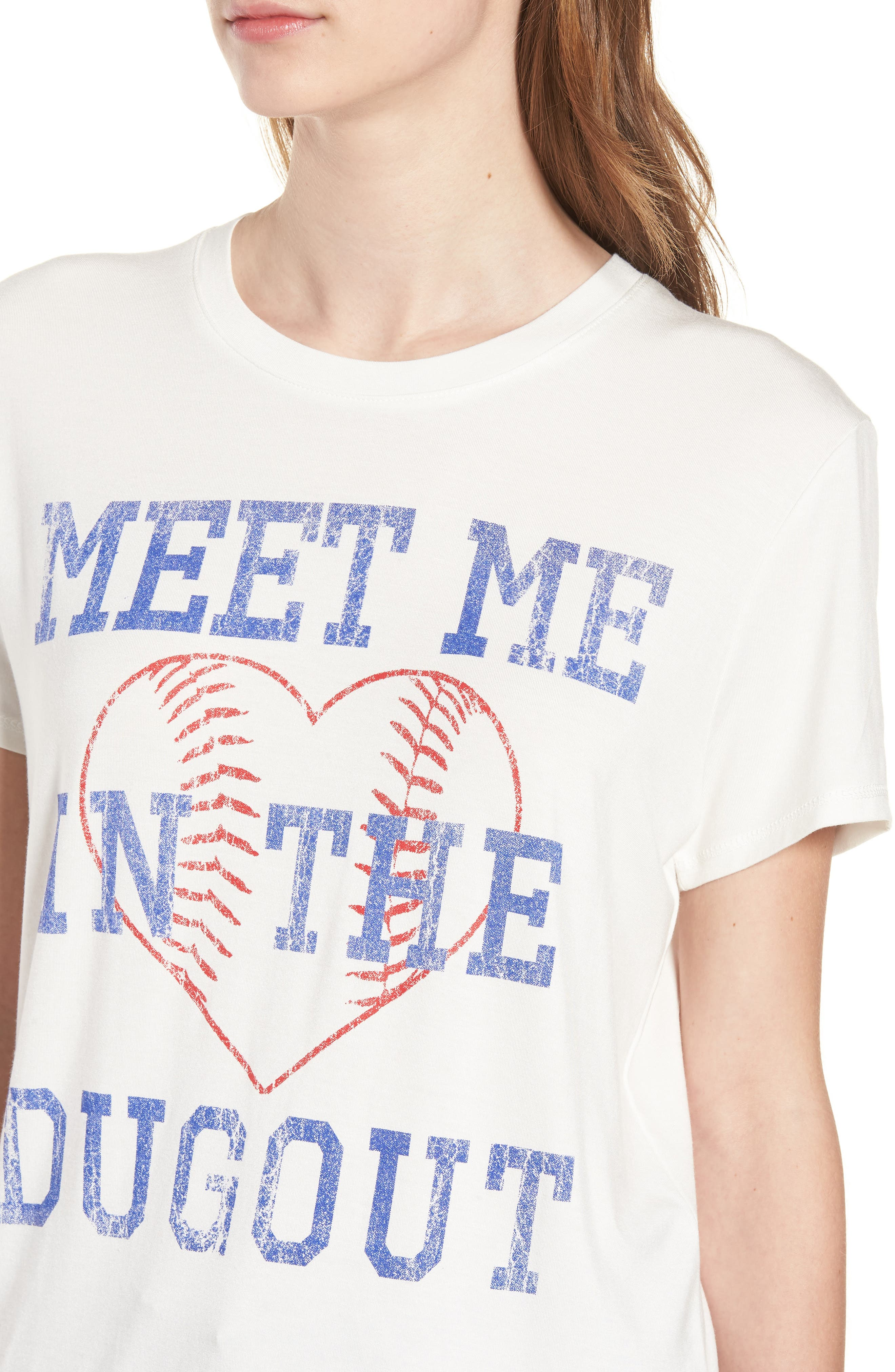 Meet Me in the Dugout Tee,                             Alternate thumbnail 4, color,                             Ivory