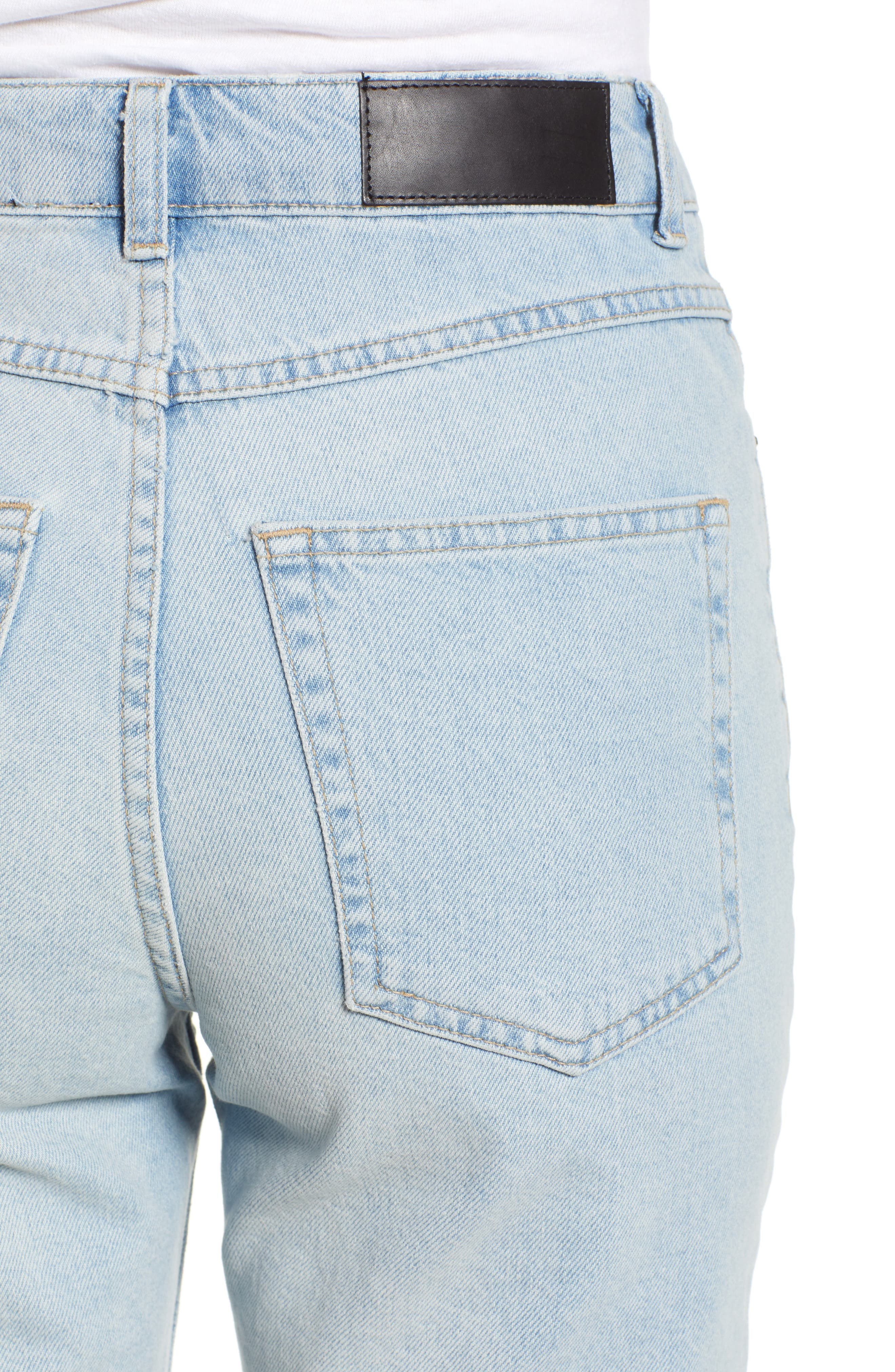 Alternate Image 4  - Topshop Boutique Bleach Denim Board Shorts