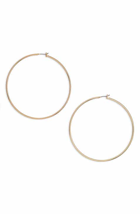 Halogen Clic Thin Hoop Earrings