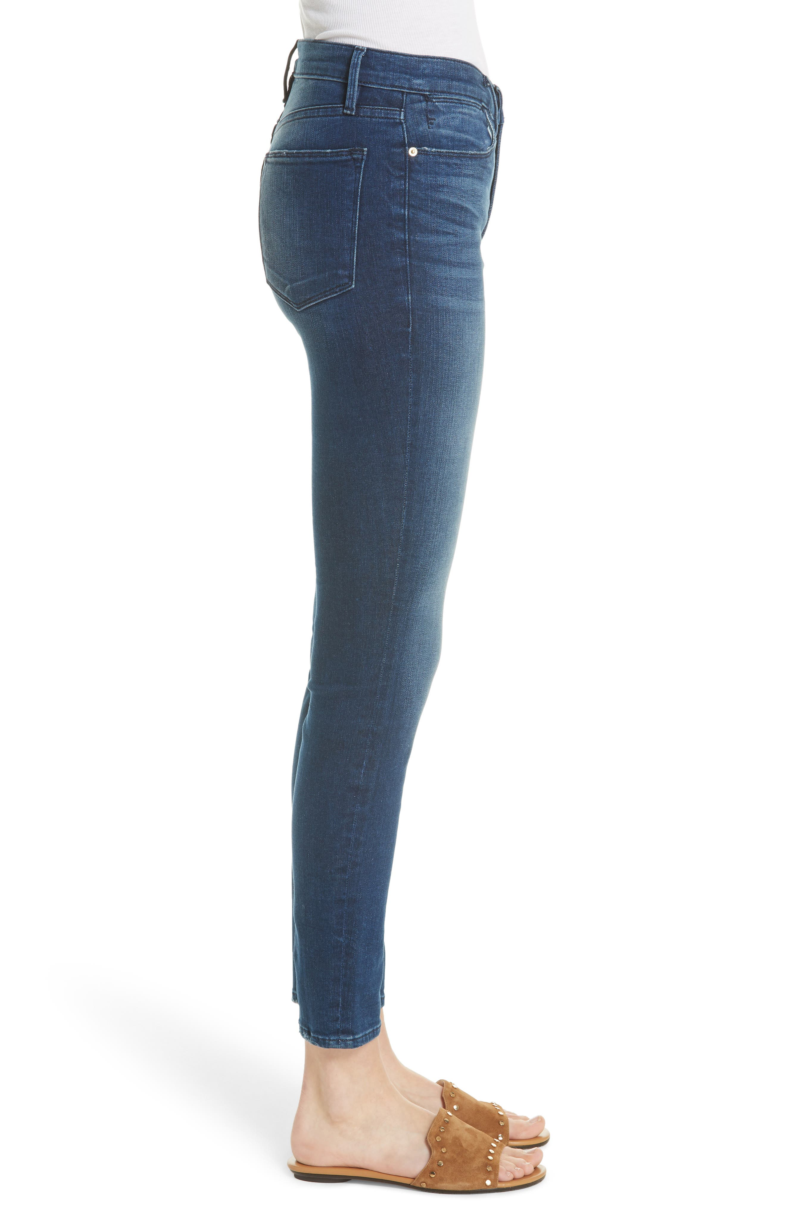 Le High Ankle Skinny Jeans,                             Alternate thumbnail 5, color,                             Silver Spring