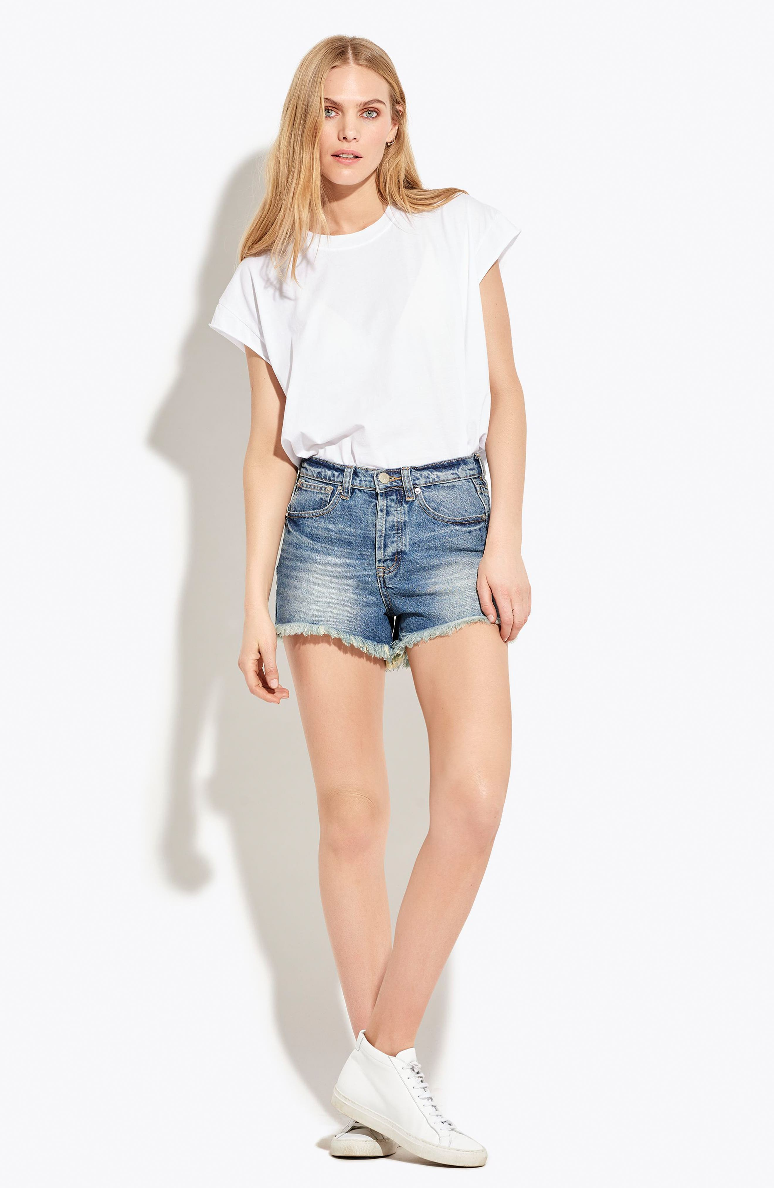 The Cutoff Denim Shorts,                             Alternate thumbnail 2, color,                             London Calling