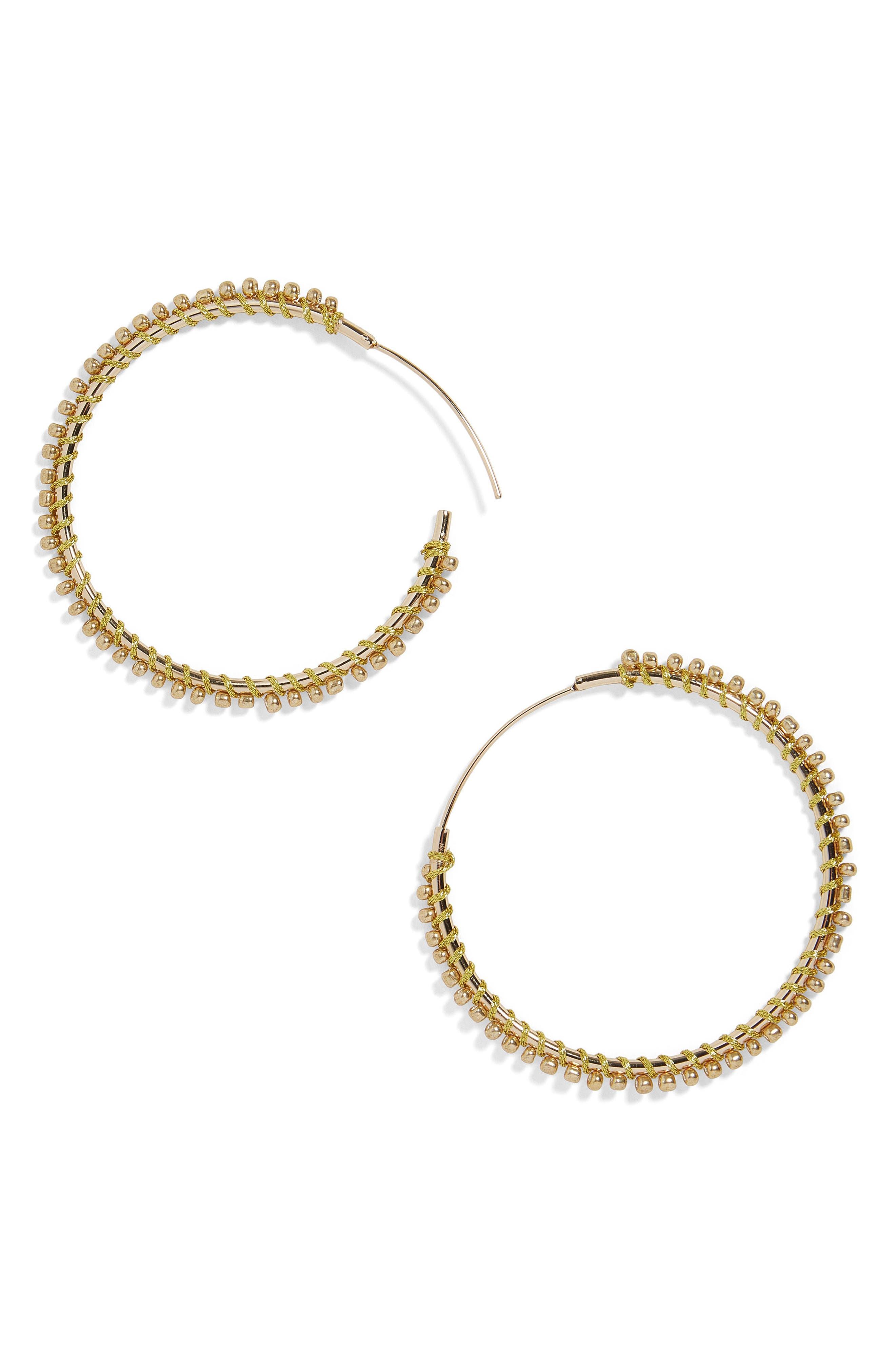 Priscille Hoop Earrings,                             Main thumbnail 1, color,                             Gold
