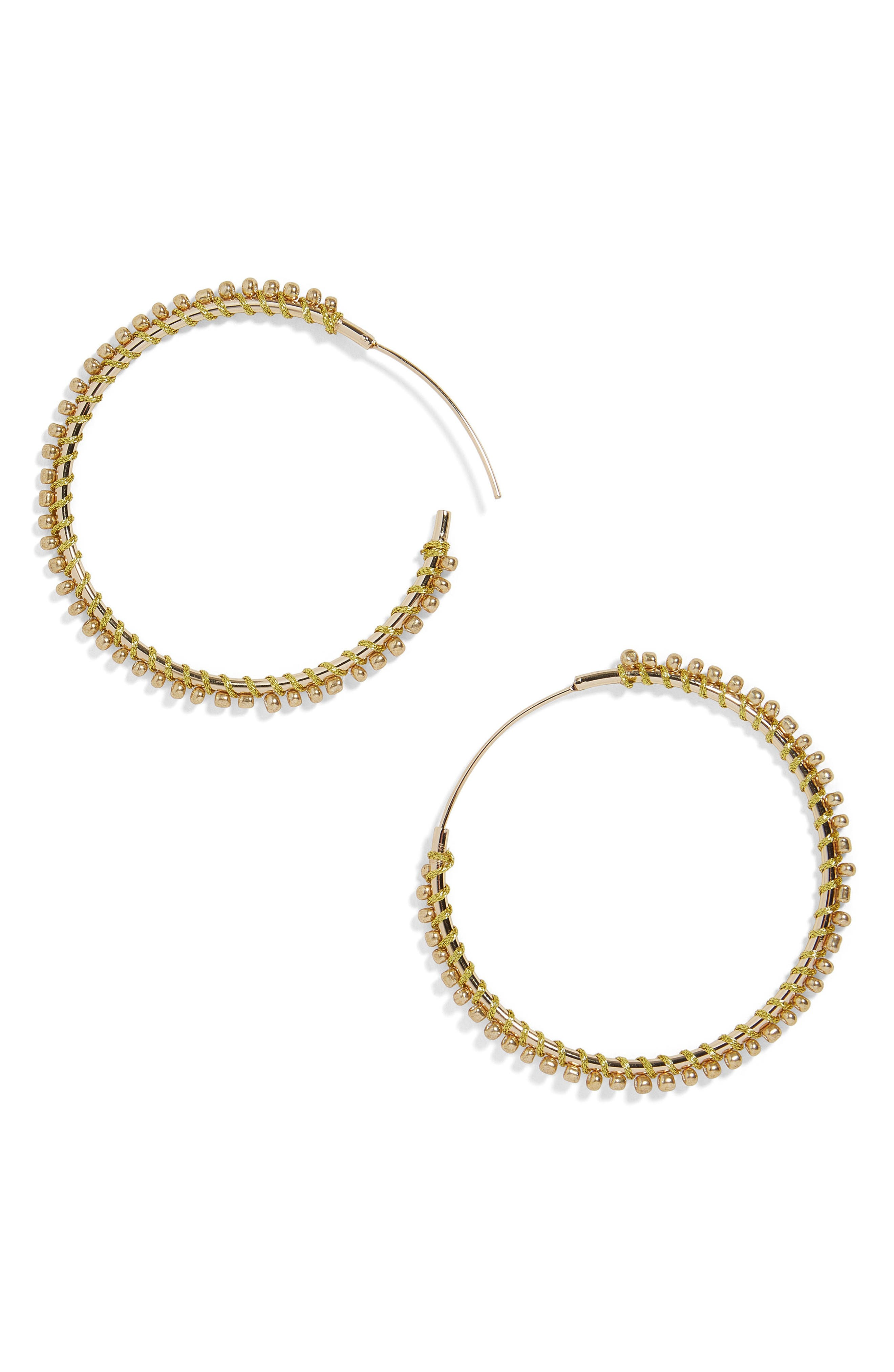 Priscille Hoop Earrings,                         Main,                         color, Gold