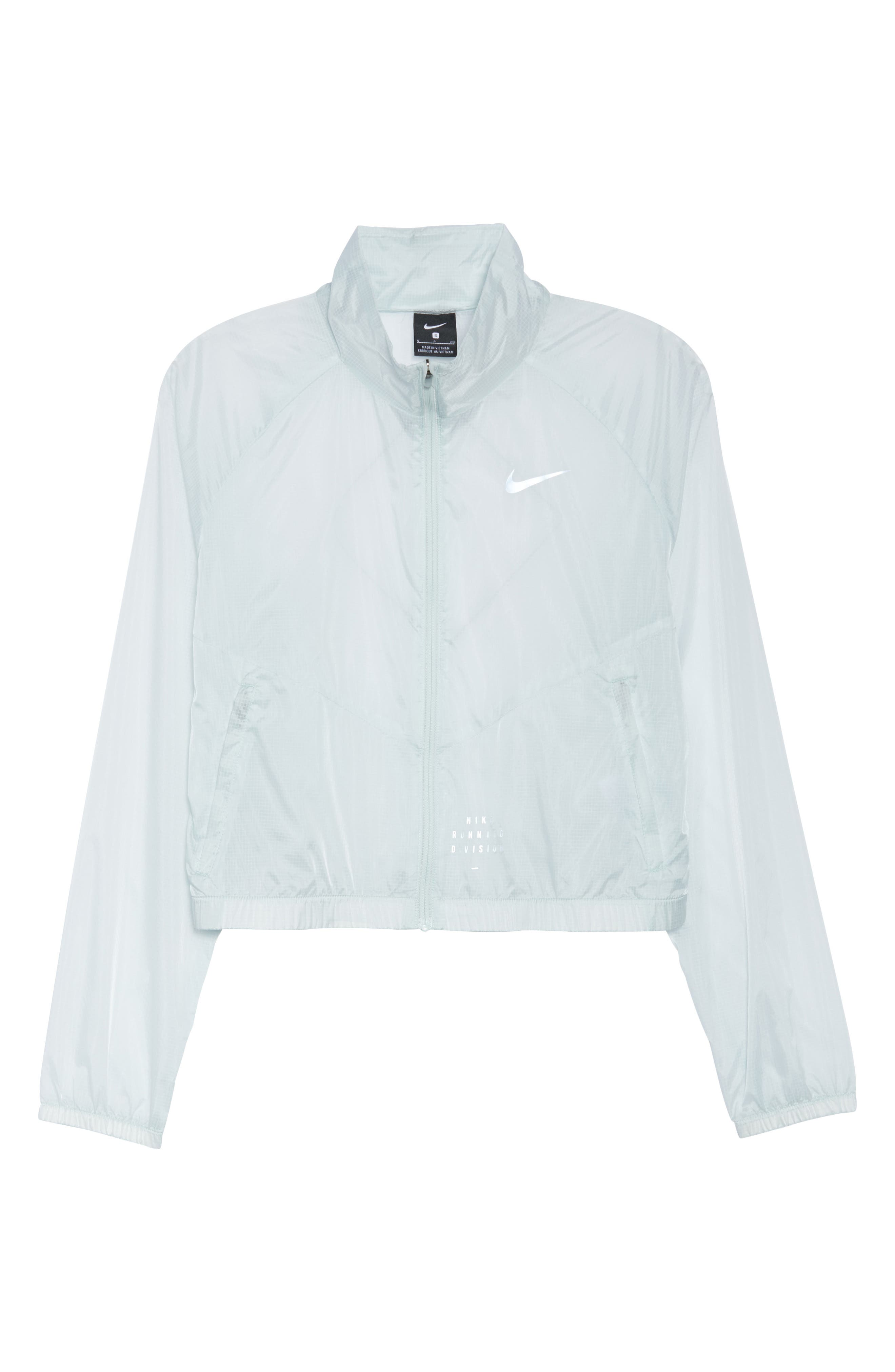 Transparent Running Jacket,                             Alternate thumbnail 7, color,                             Barely Grey