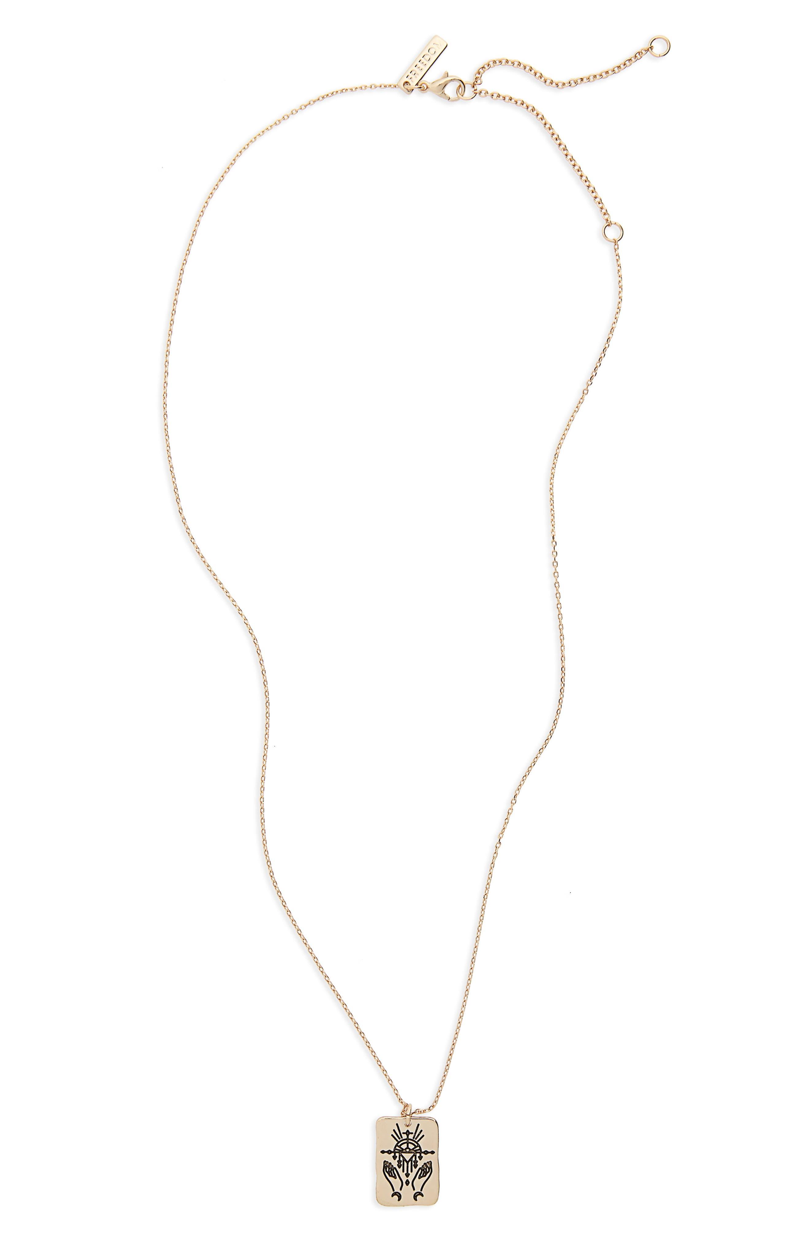 Tarot High Priest Pendant Necklace,                         Main,                         color, Gold
