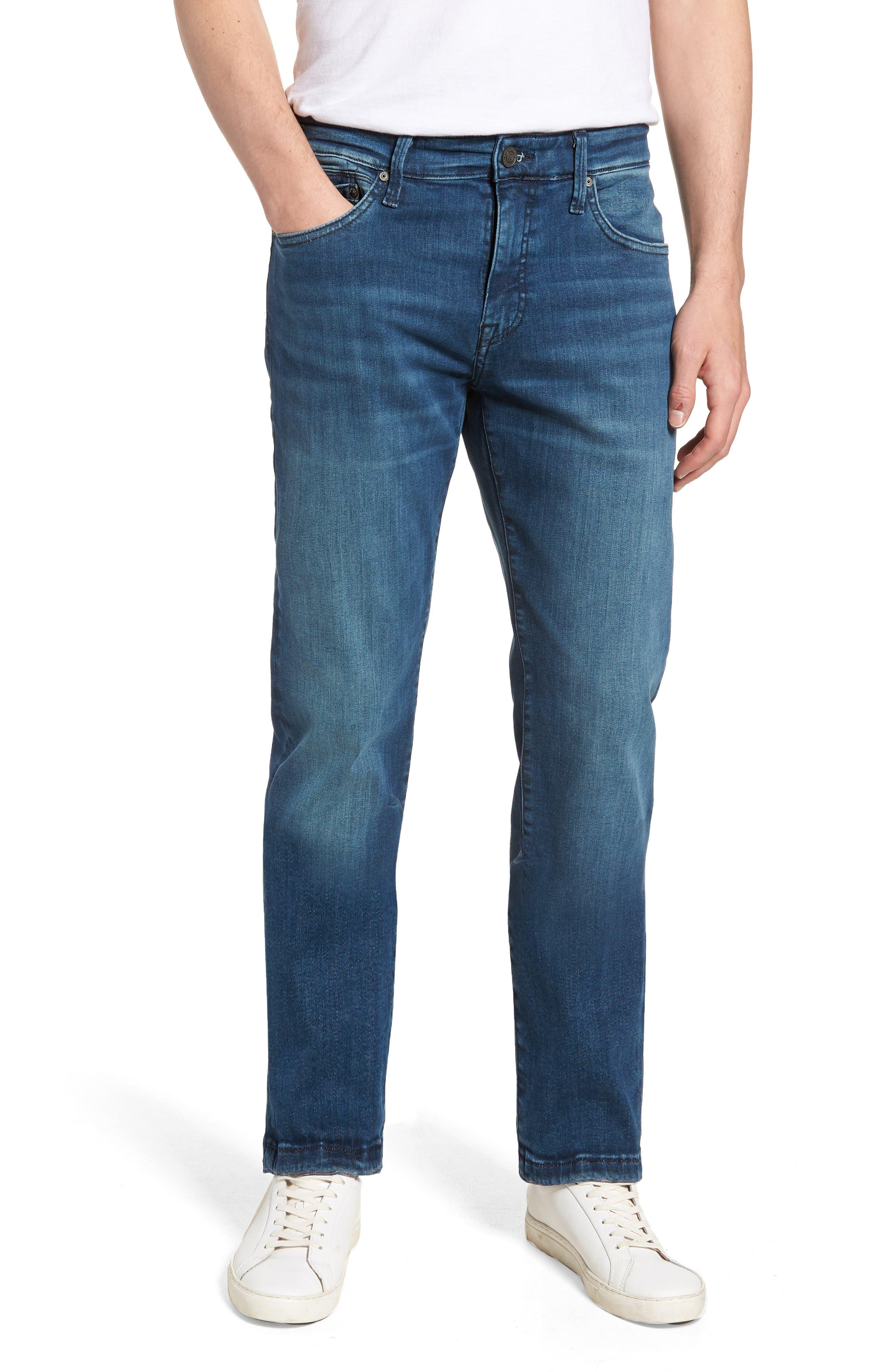 Marcus Slim Straight Leg Jeans,                             Main thumbnail 1, color,                             Mid Tonal Williamsburg