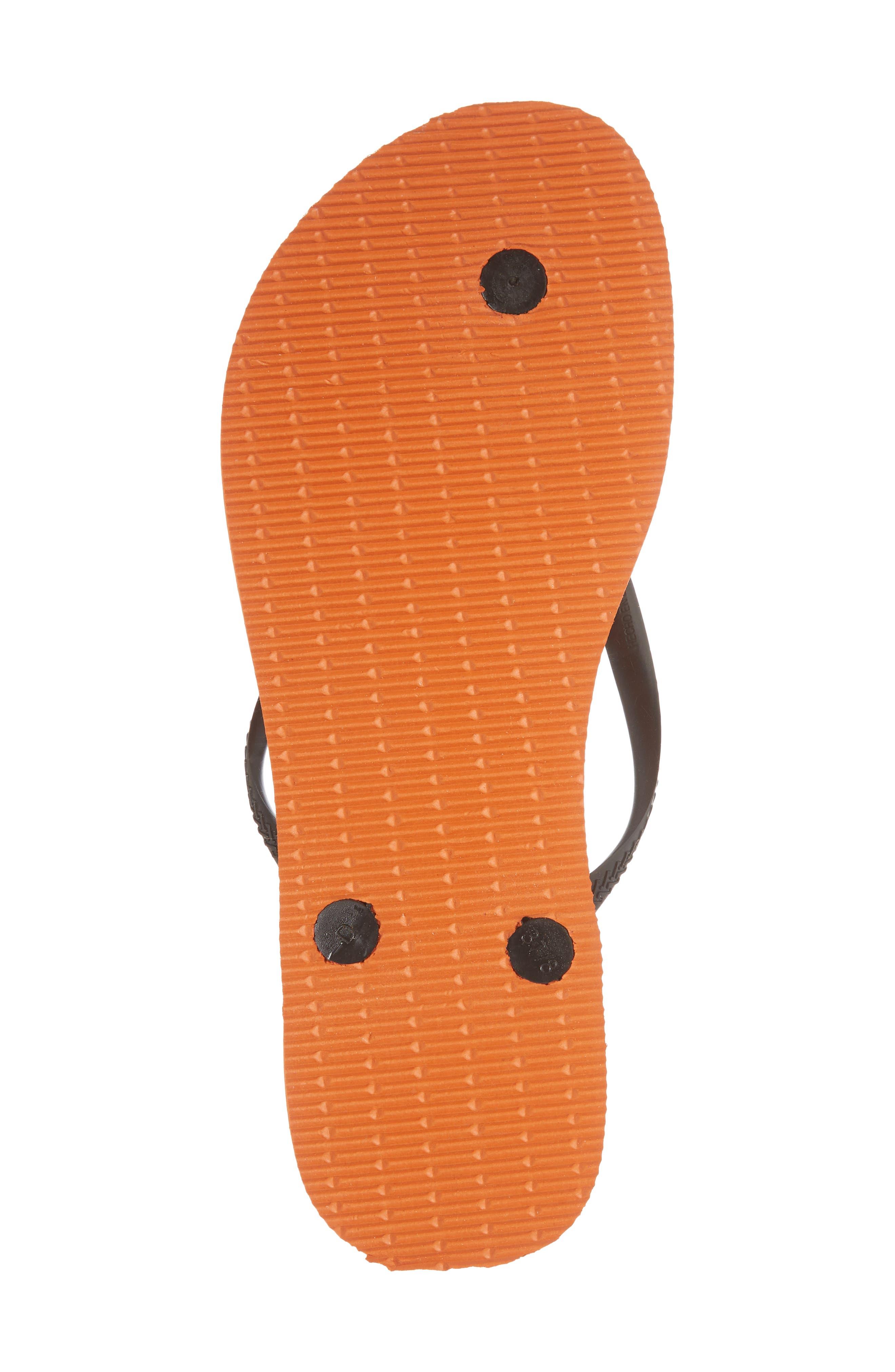 Slim MLB Flip Flop,                             Alternate thumbnail 6, color,                             Neon Orange