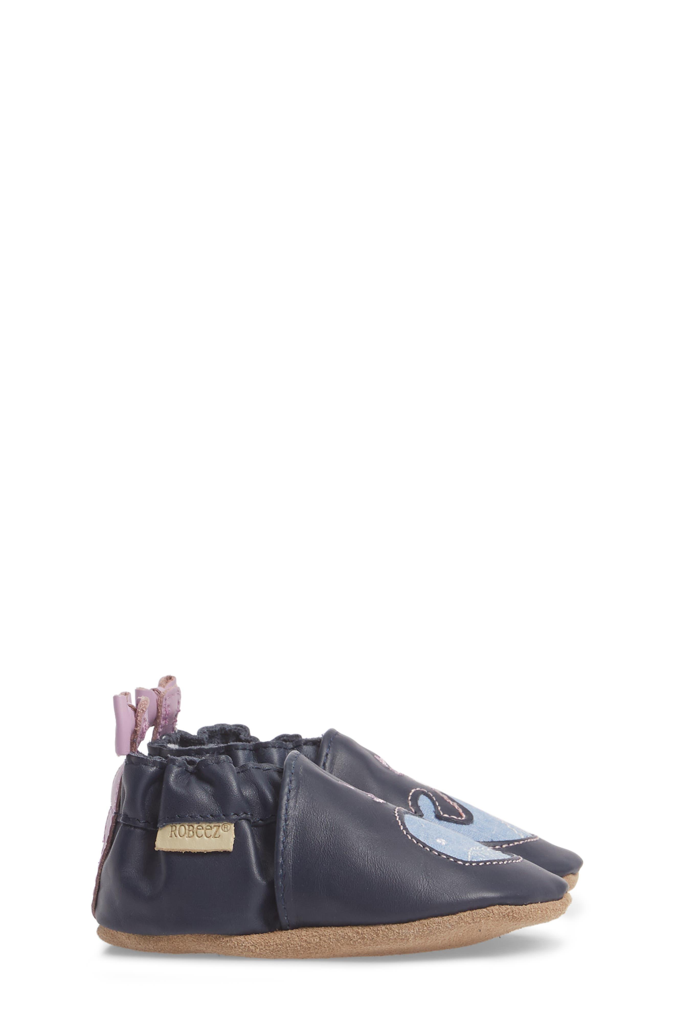 Poppy Whale Crib Shoe,                             Alternate thumbnail 4, color,                             Navy