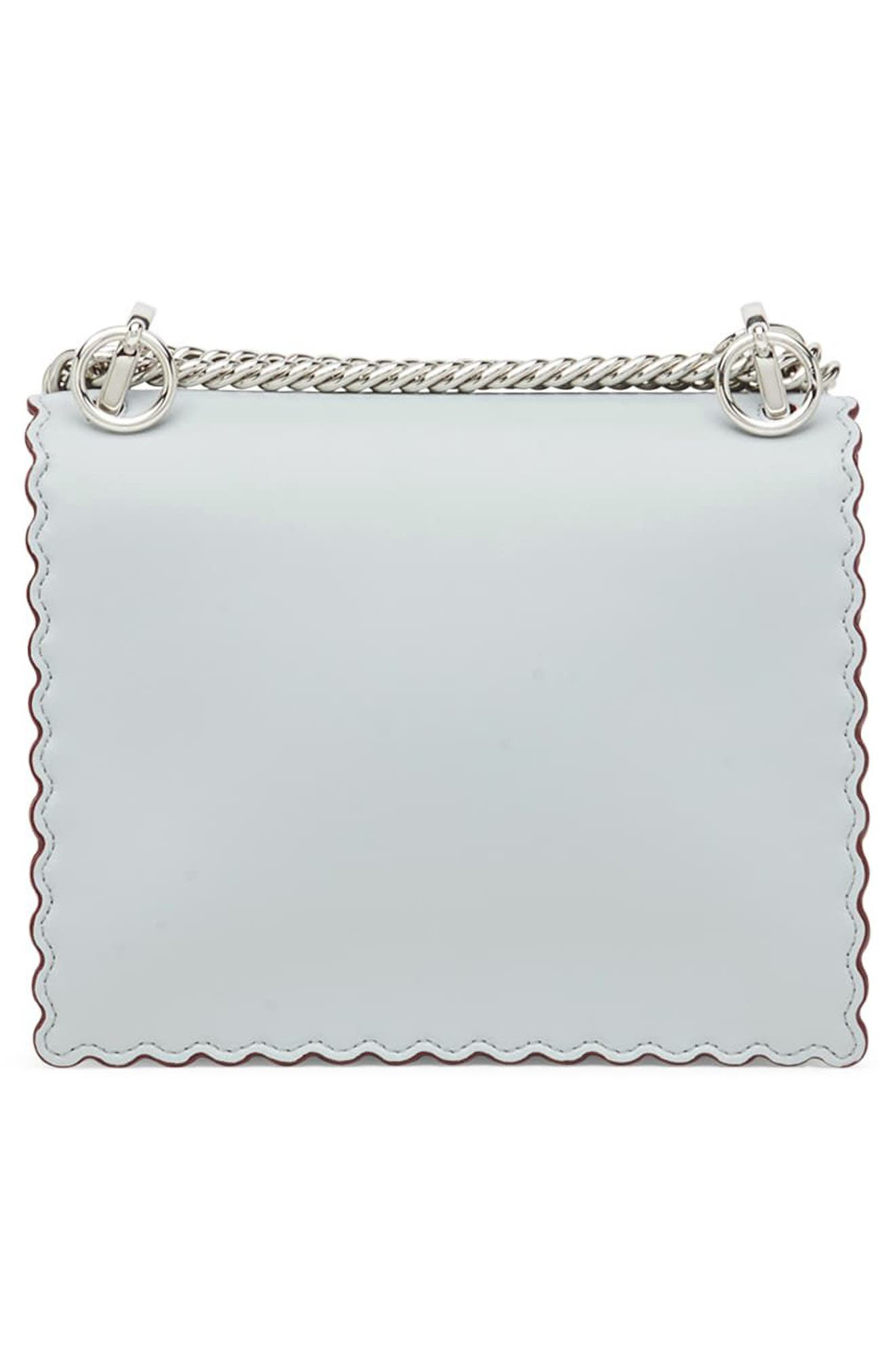 Mini Kan I Scalloped Leather Shoulder Bag,                             Alternate thumbnail 2, color,                             Grigio Perla/ Palladio
