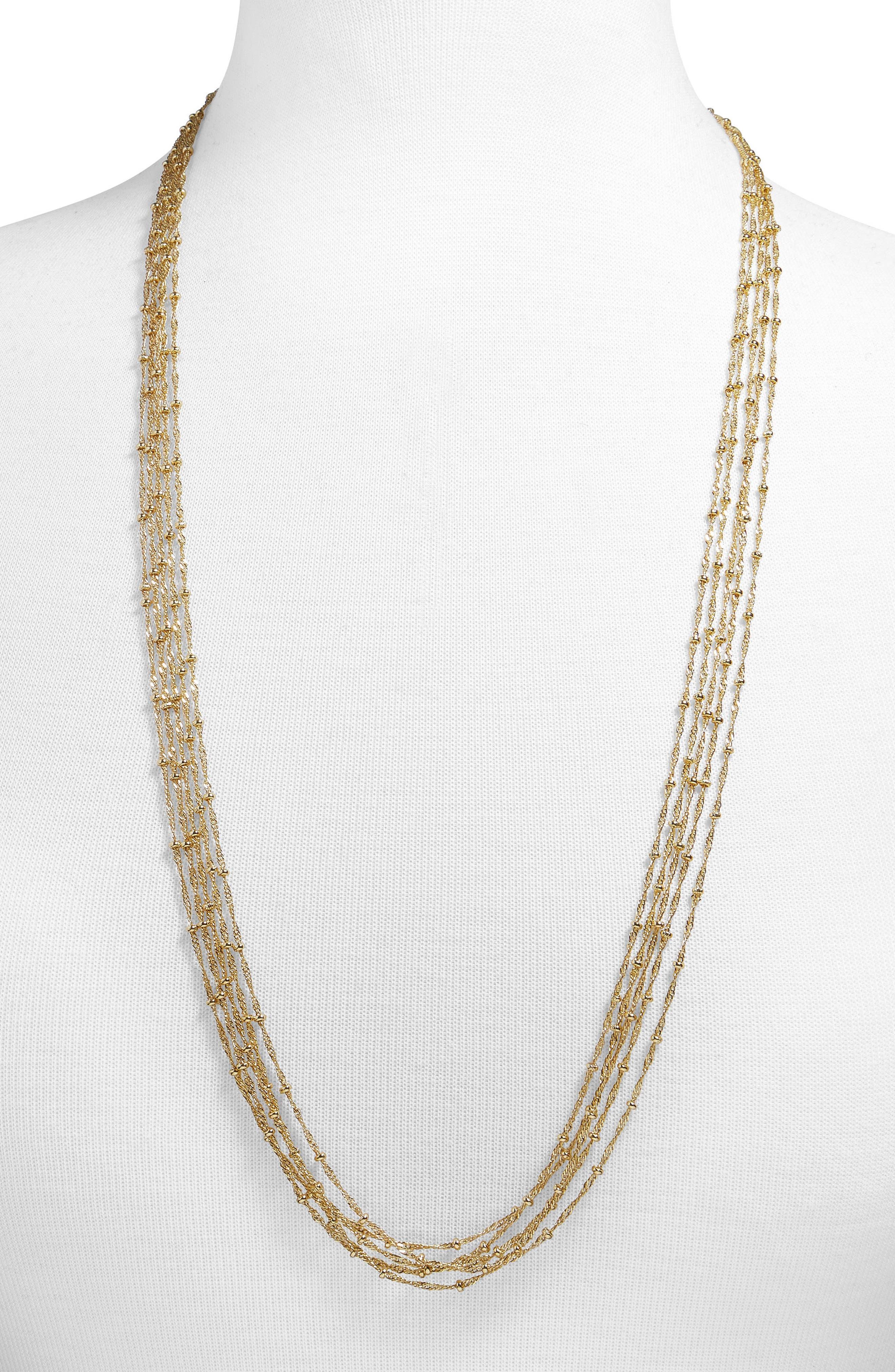Daphnee Necklace,                             Main thumbnail 1, color,                             Gold