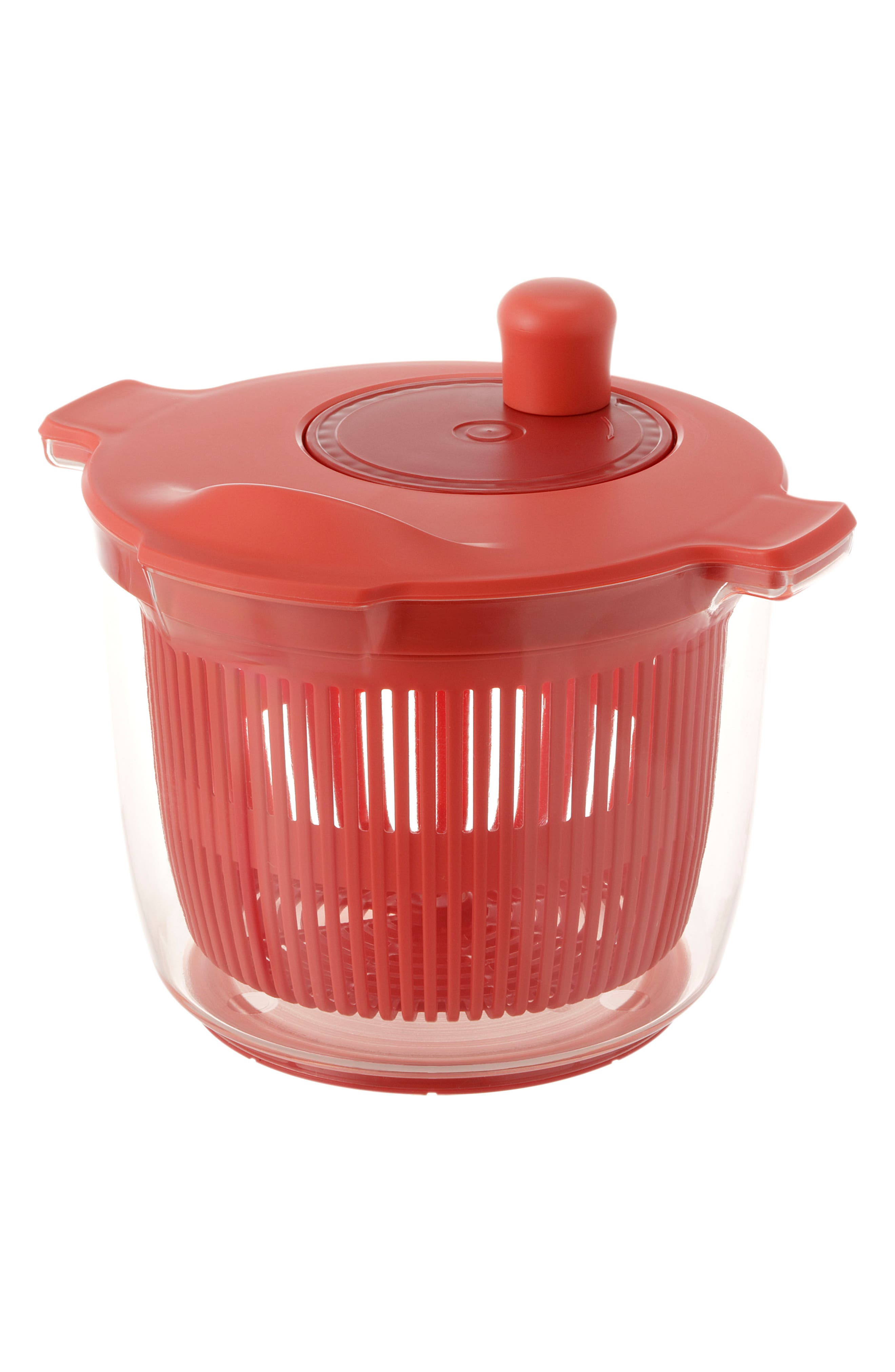Salad Spinner,                             Alternate thumbnail 3, color,                             Red