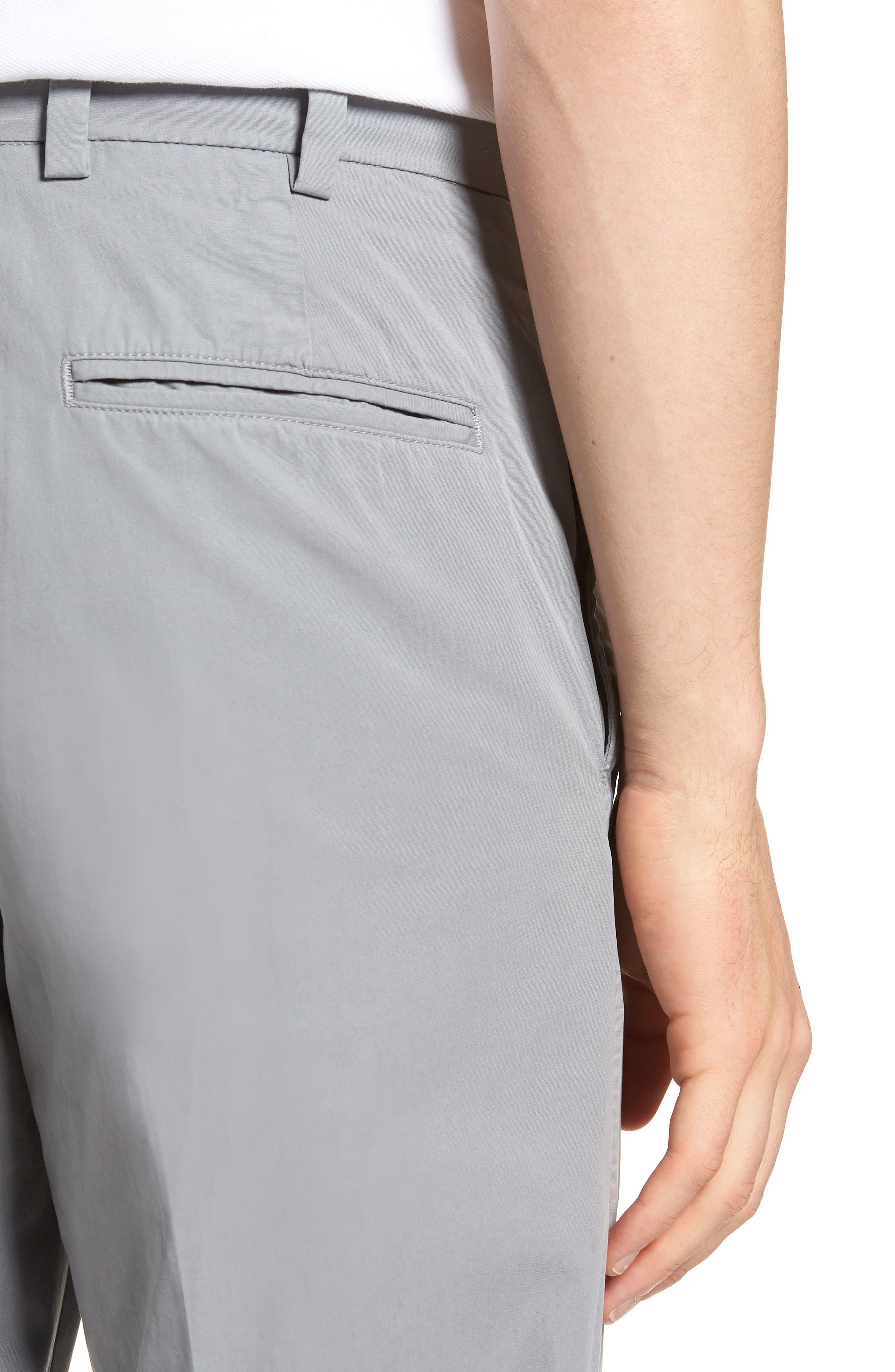 M2 Classic Fit Flat Front Tropical Cotton Poplin Pants,                             Alternate thumbnail 4, color,                             Nickel