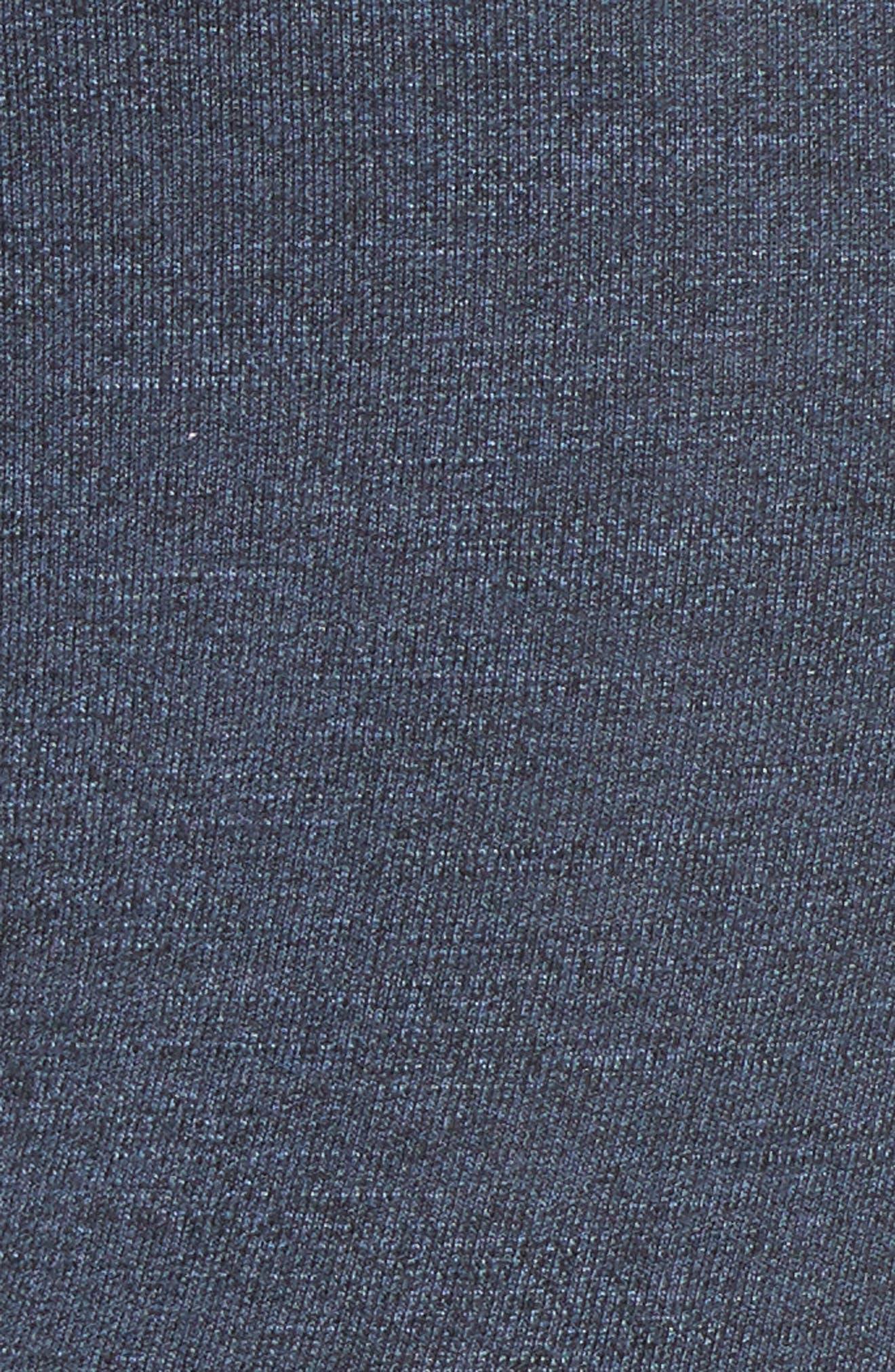 Side Stripe Yoga Pants,                             Alternate thumbnail 5, color,                             Navy