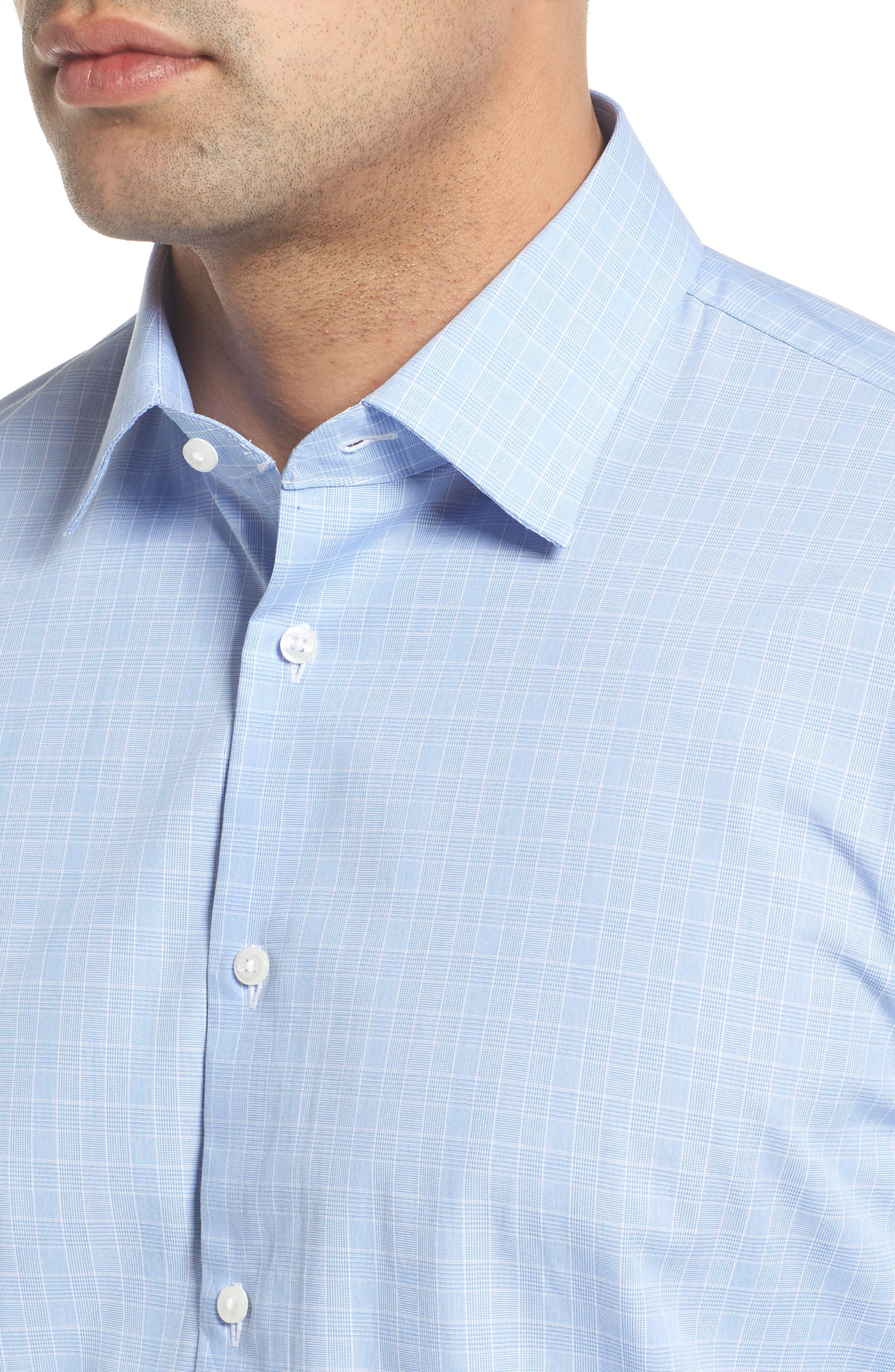 Traditional Fit Dress Shirt,                             Alternate thumbnail 2, color,                             Blue Bel Air