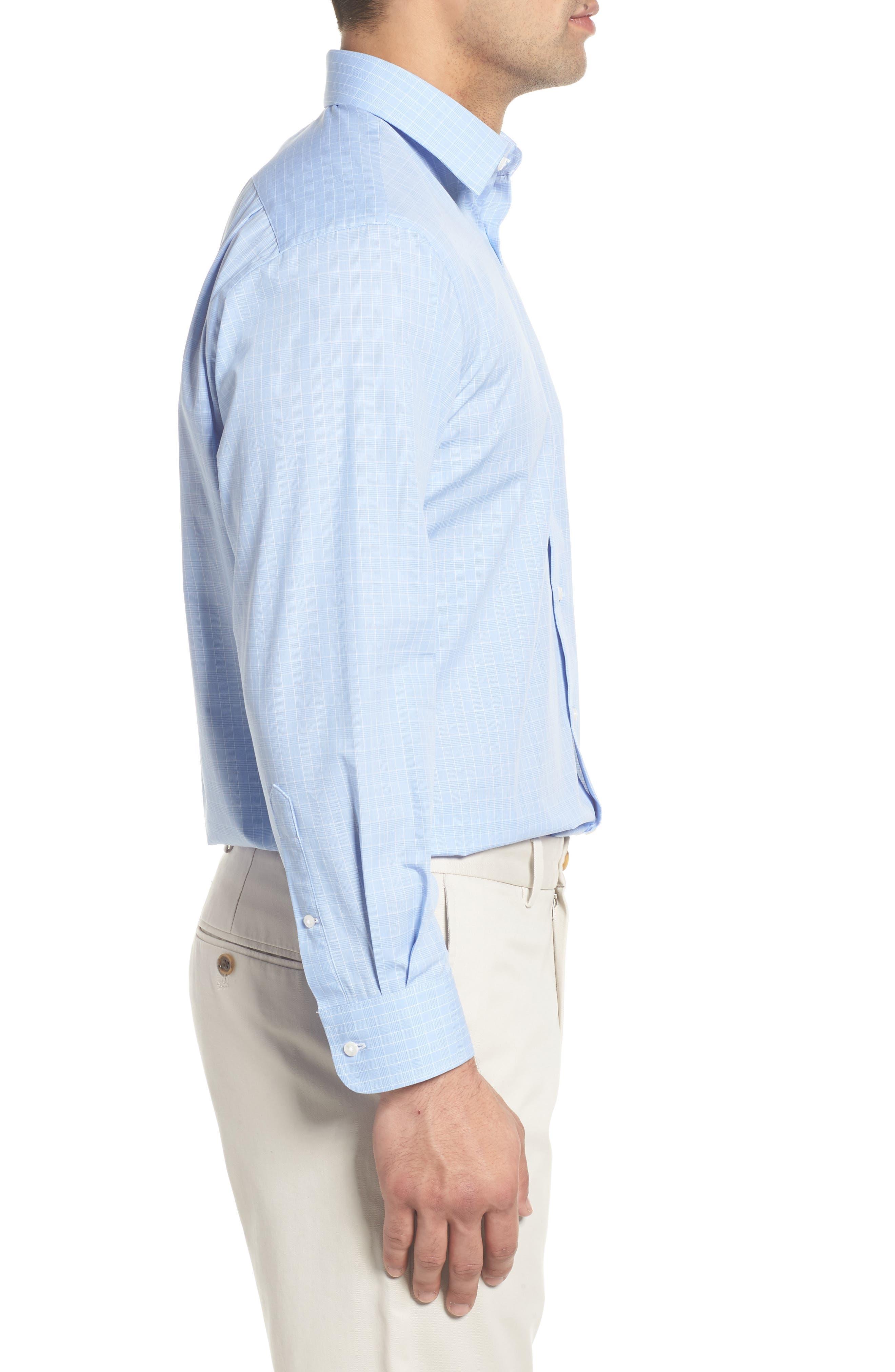 Traditional Fit Dress Shirt,                             Alternate thumbnail 4, color,                             Blue Bel Air