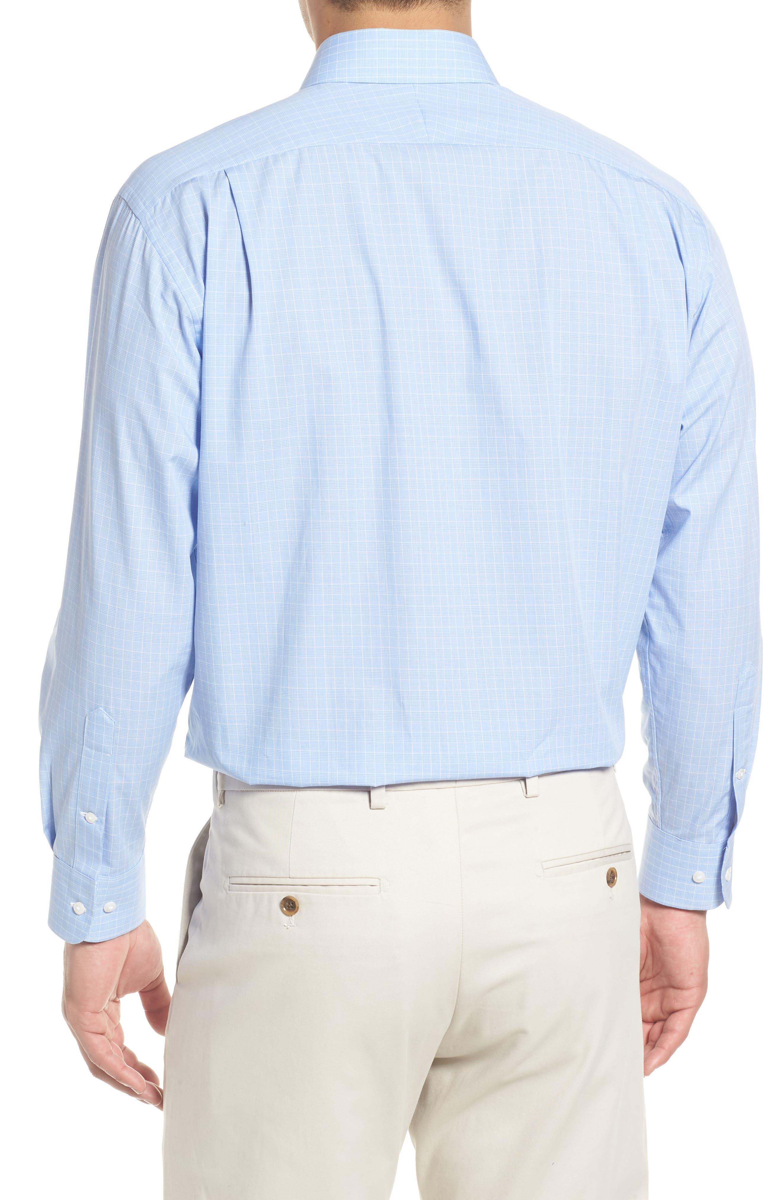 Traditional Fit Dress Shirt,                             Alternate thumbnail 3, color,                             Blue Bel Air