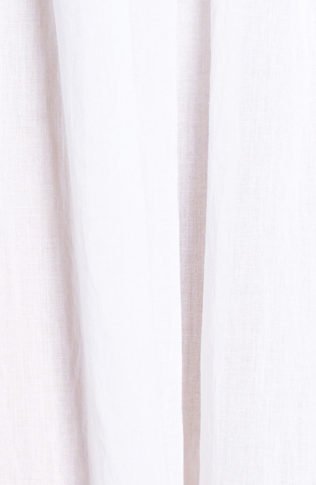 Lace Trim Nightgown,                             Alternate thumbnail 6, color,                             White