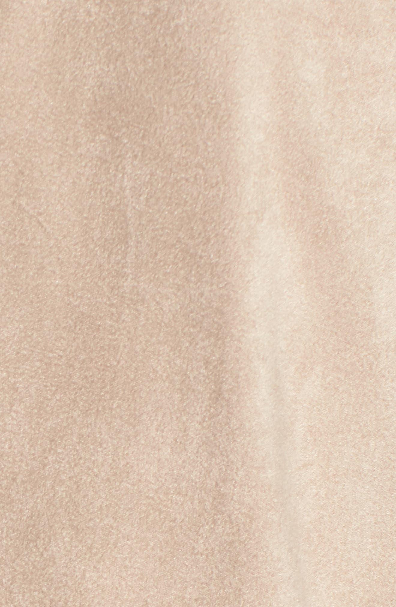 'Nicholson' Faux Suede Drape Front Jacket,                             Alternate thumbnail 6, color,                             Bone