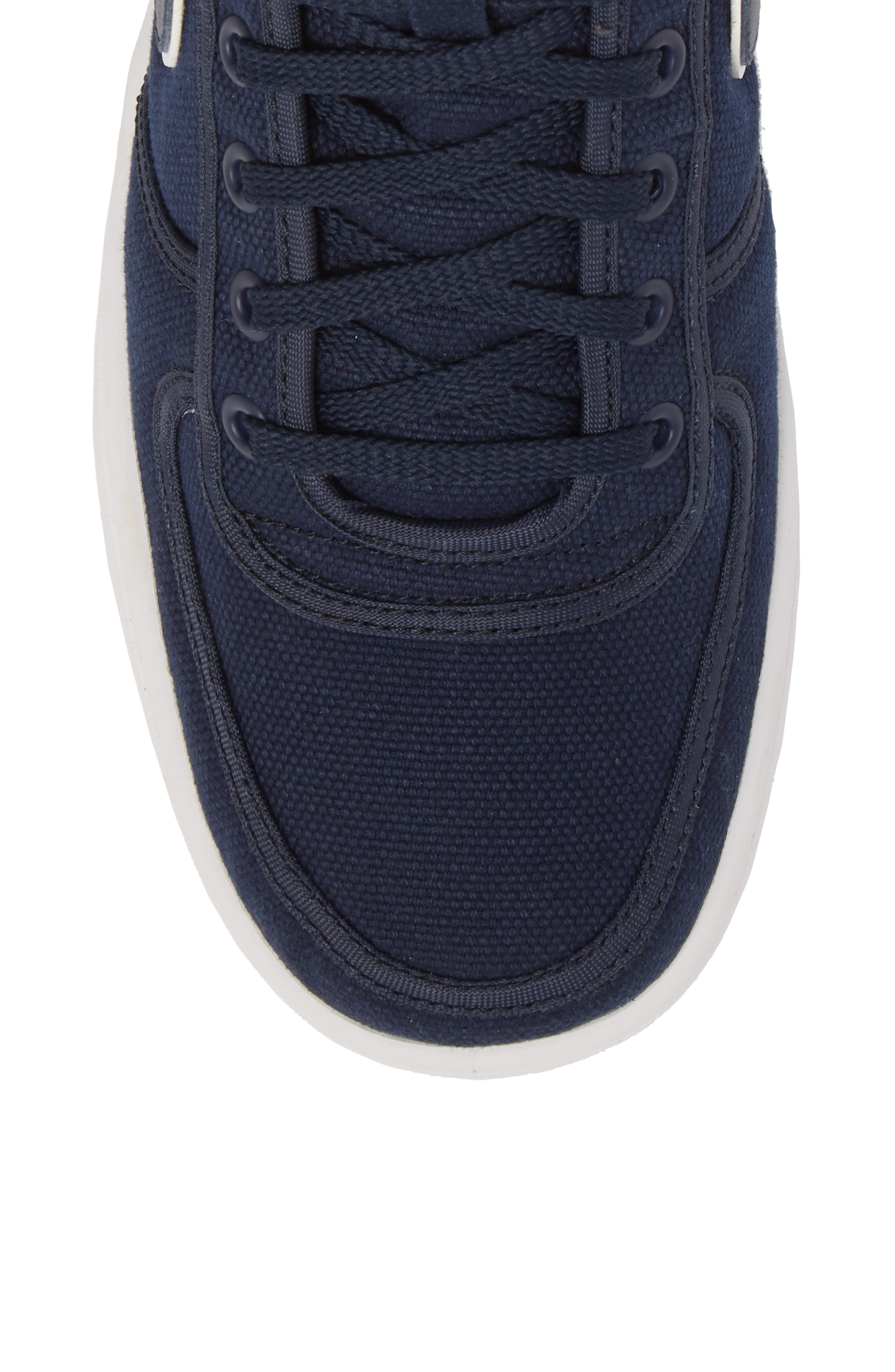 Vandal High Supreme High Top Sneaker,                             Alternate thumbnail 5, color,                             Obsidian/ White