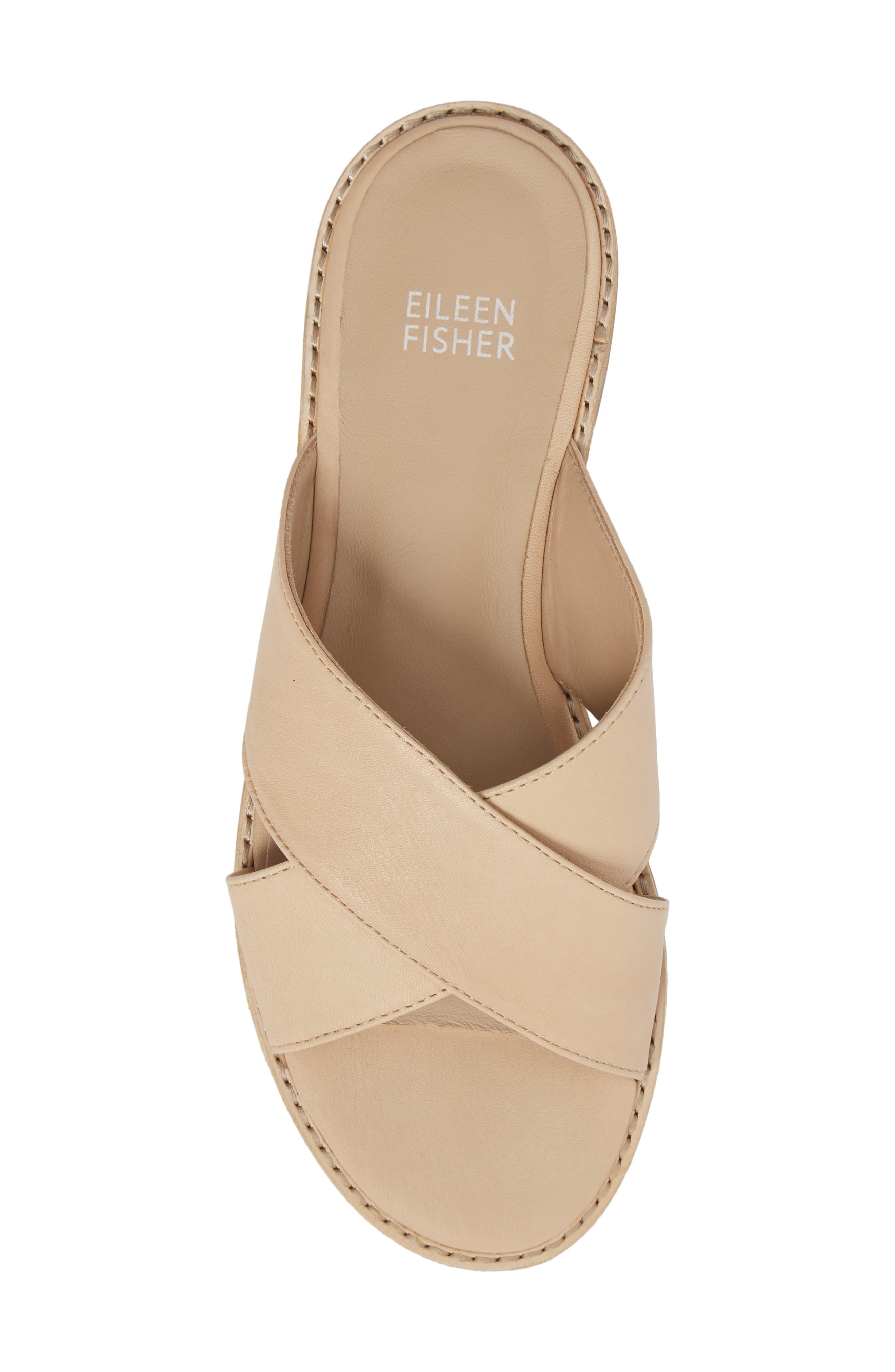 Cape Slide Sandal,                             Alternate thumbnail 5, color,                             Desert Leather