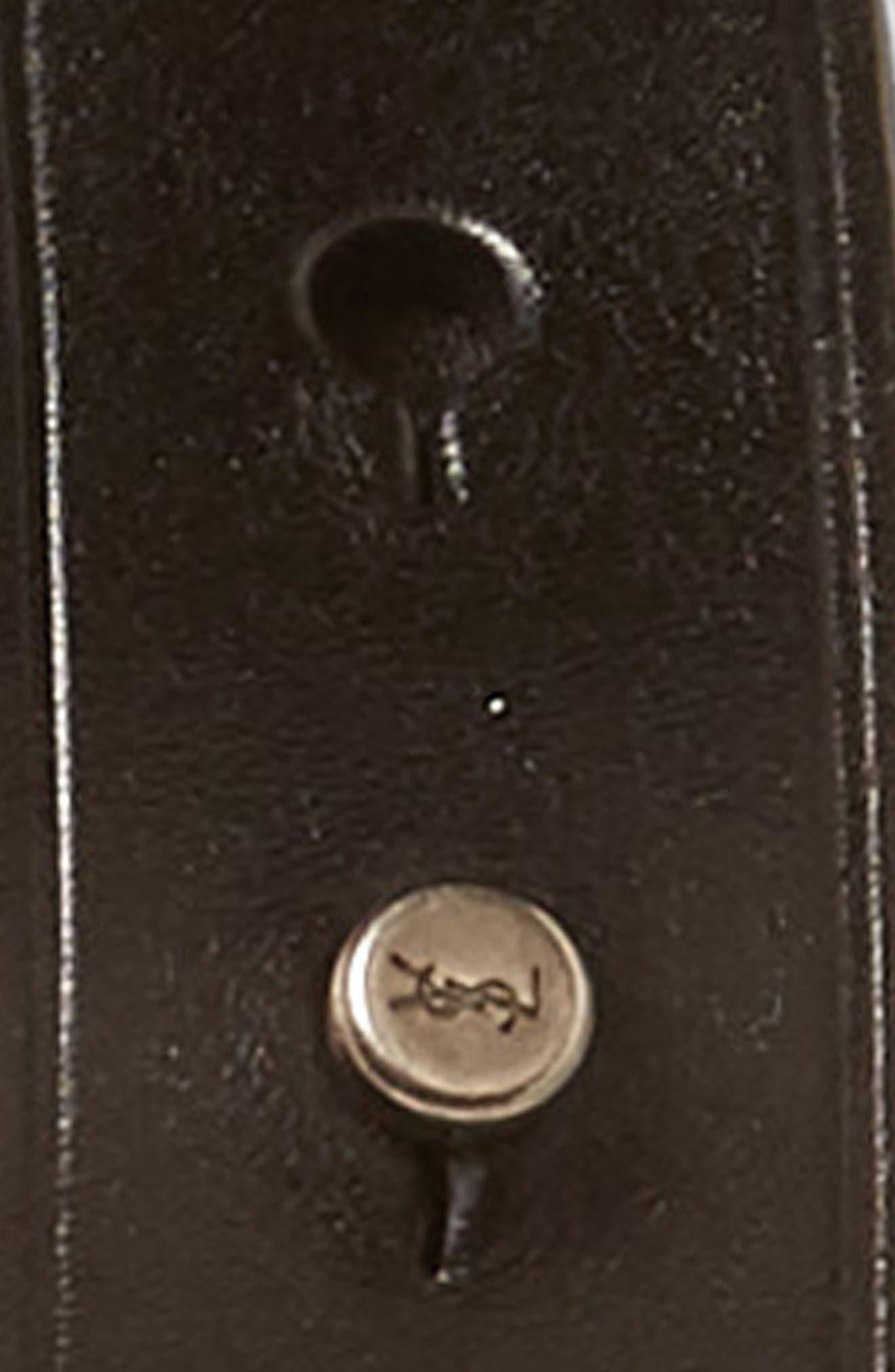 Fetiche Leather Belt,                             Alternate thumbnail 3, color,                             Black