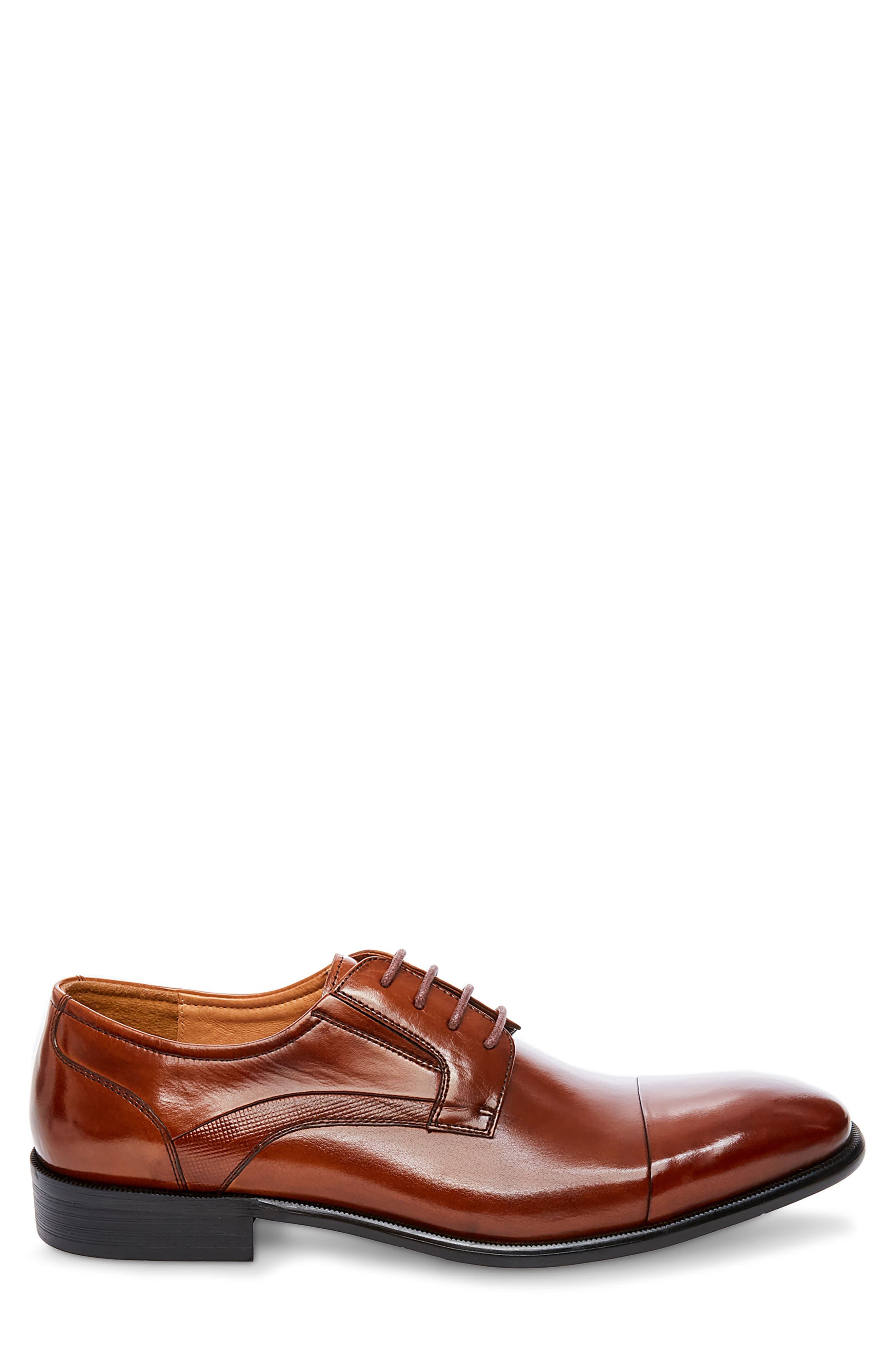 Carlo Cap Toe Derby,                             Alternate thumbnail 3, color,                             Tan Leather