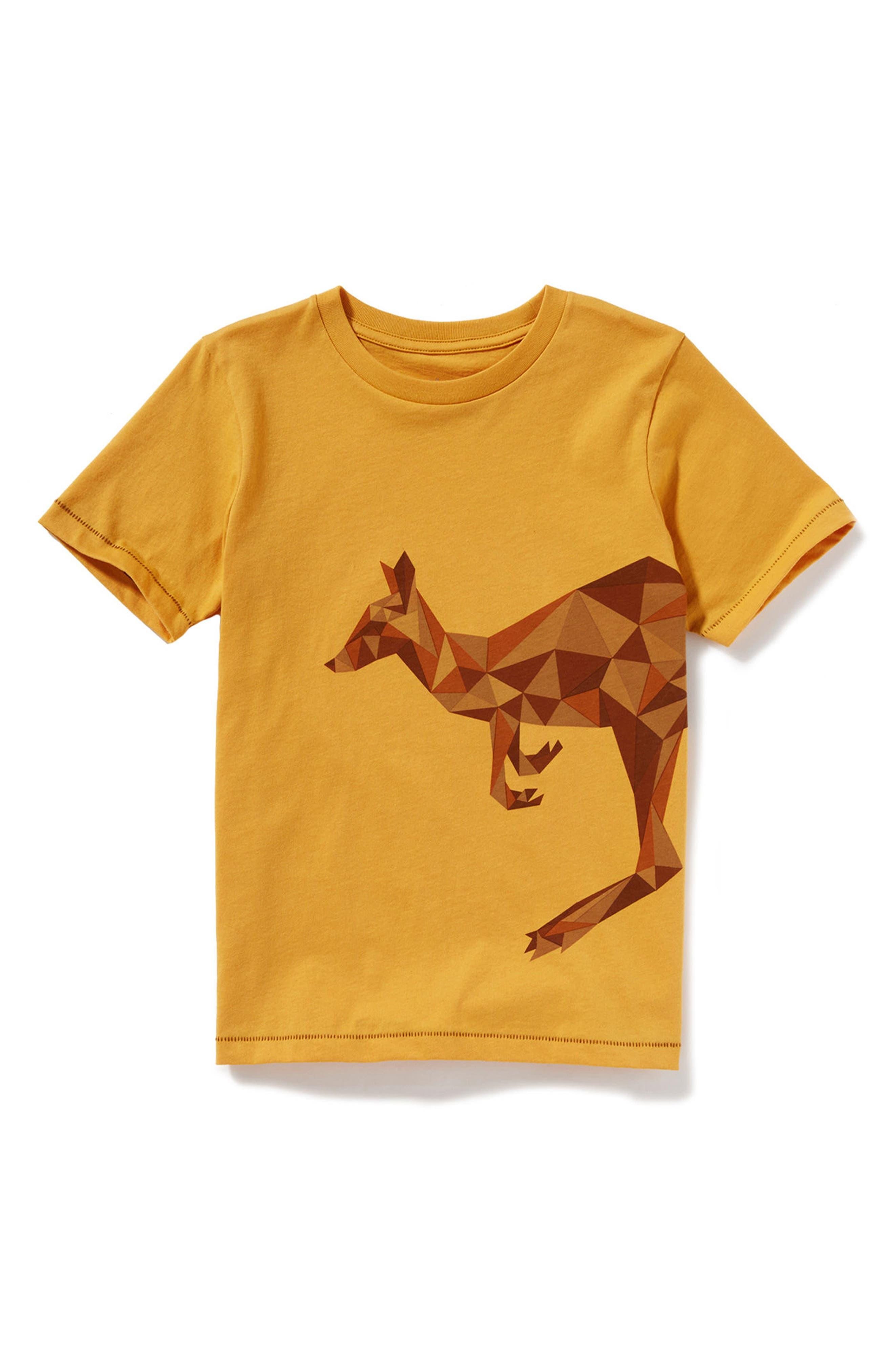 Kangaroo Graphic T-Shirt,                             Main thumbnail 1, color,                             Yellow