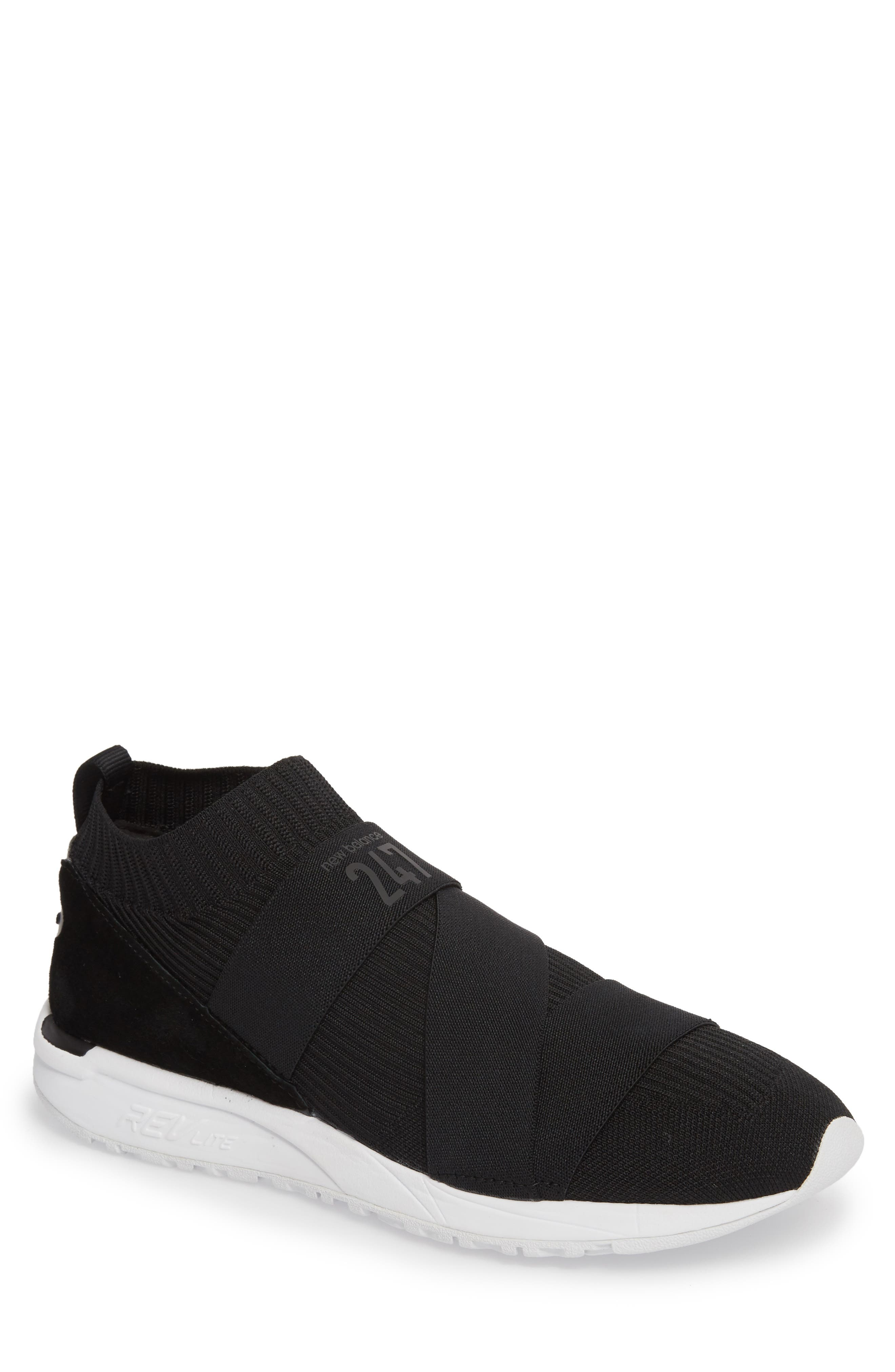 New Balance 247 Knit Sneaker In Black | ModeSens