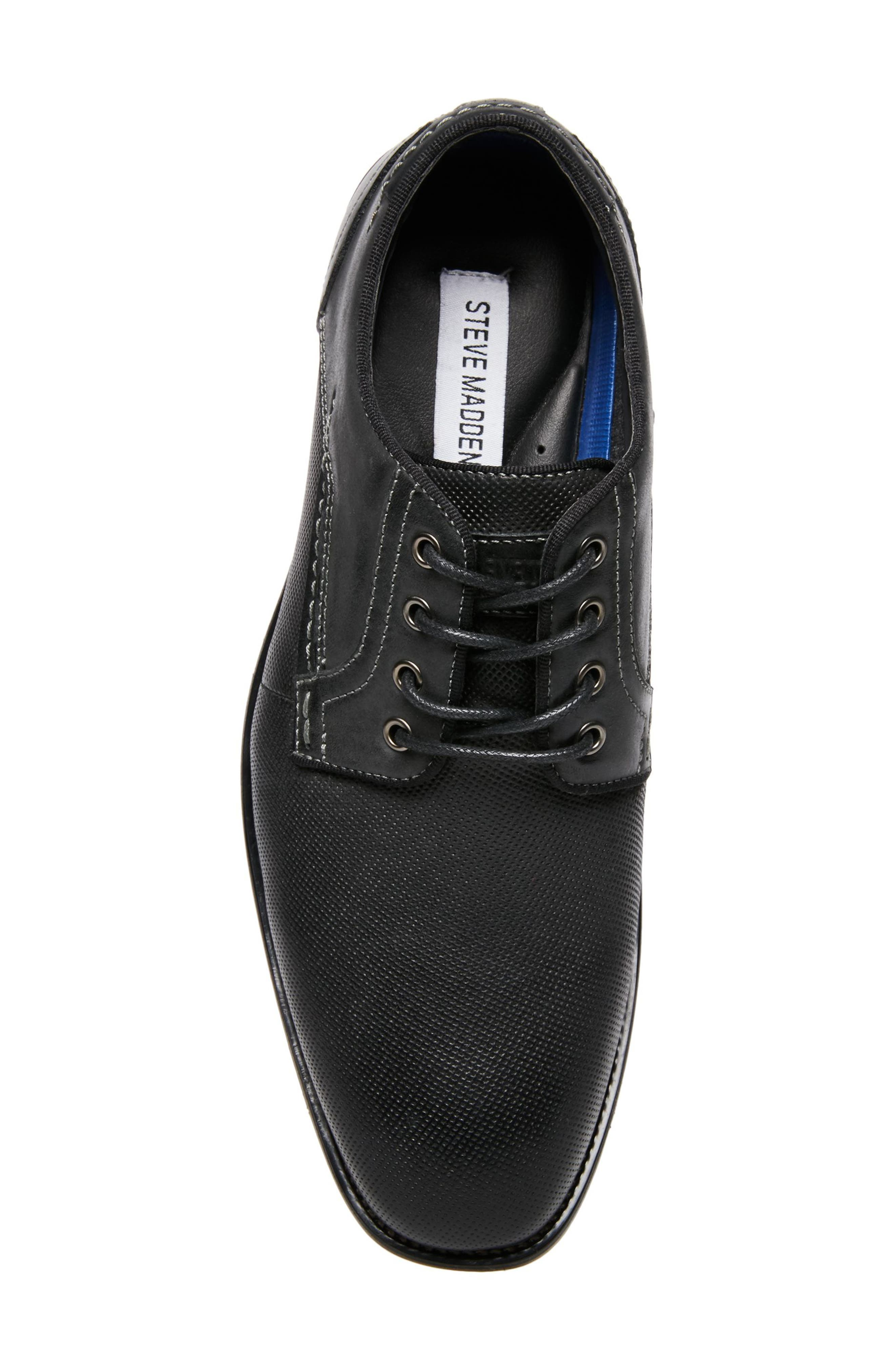 Jaysun Embossed Plain Toe Derby,                             Alternate thumbnail 5, color,                             Dark Grey Leather