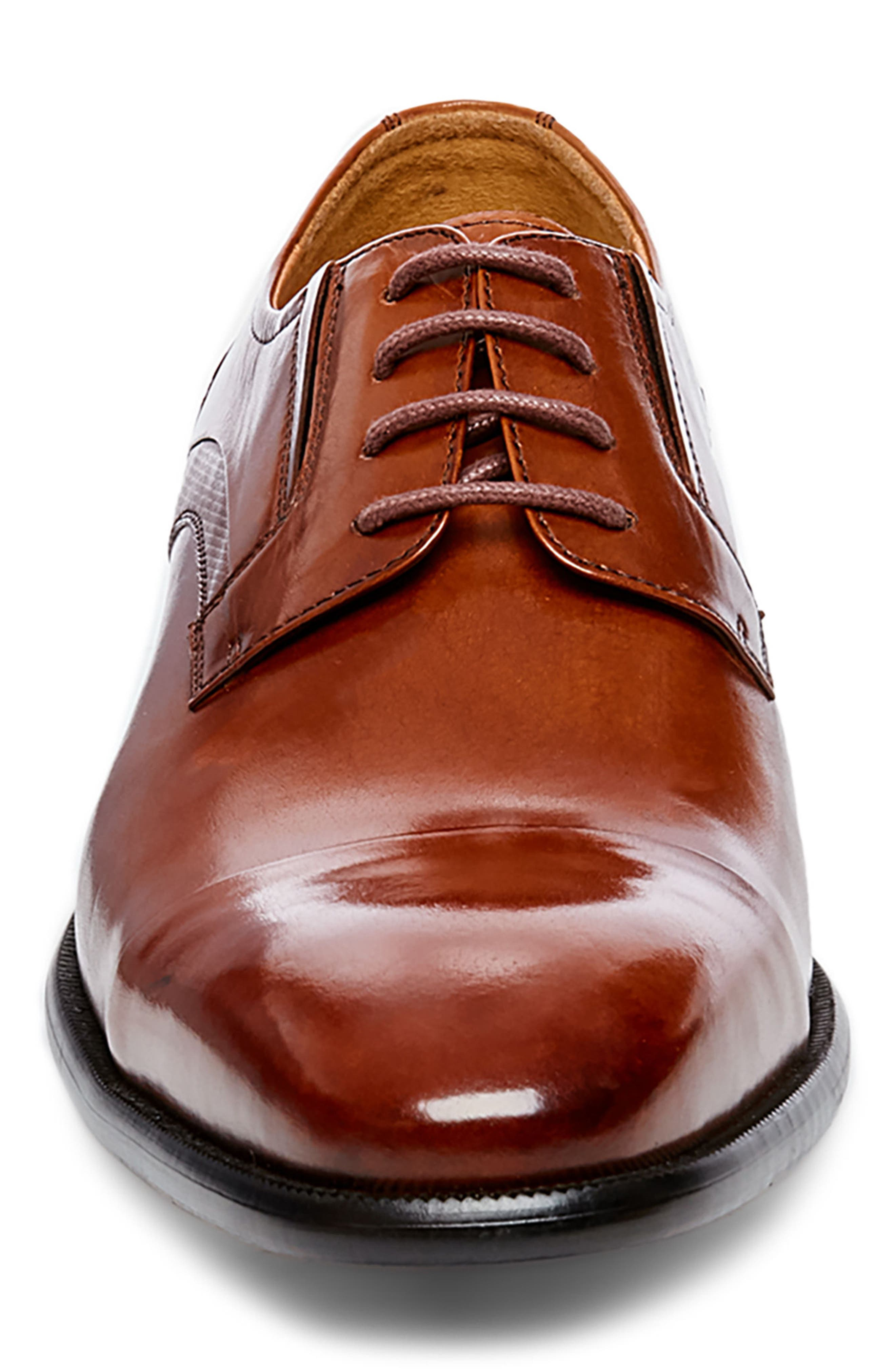 Carlo Cap Toe Derby,                             Alternate thumbnail 4, color,                             Tan Leather