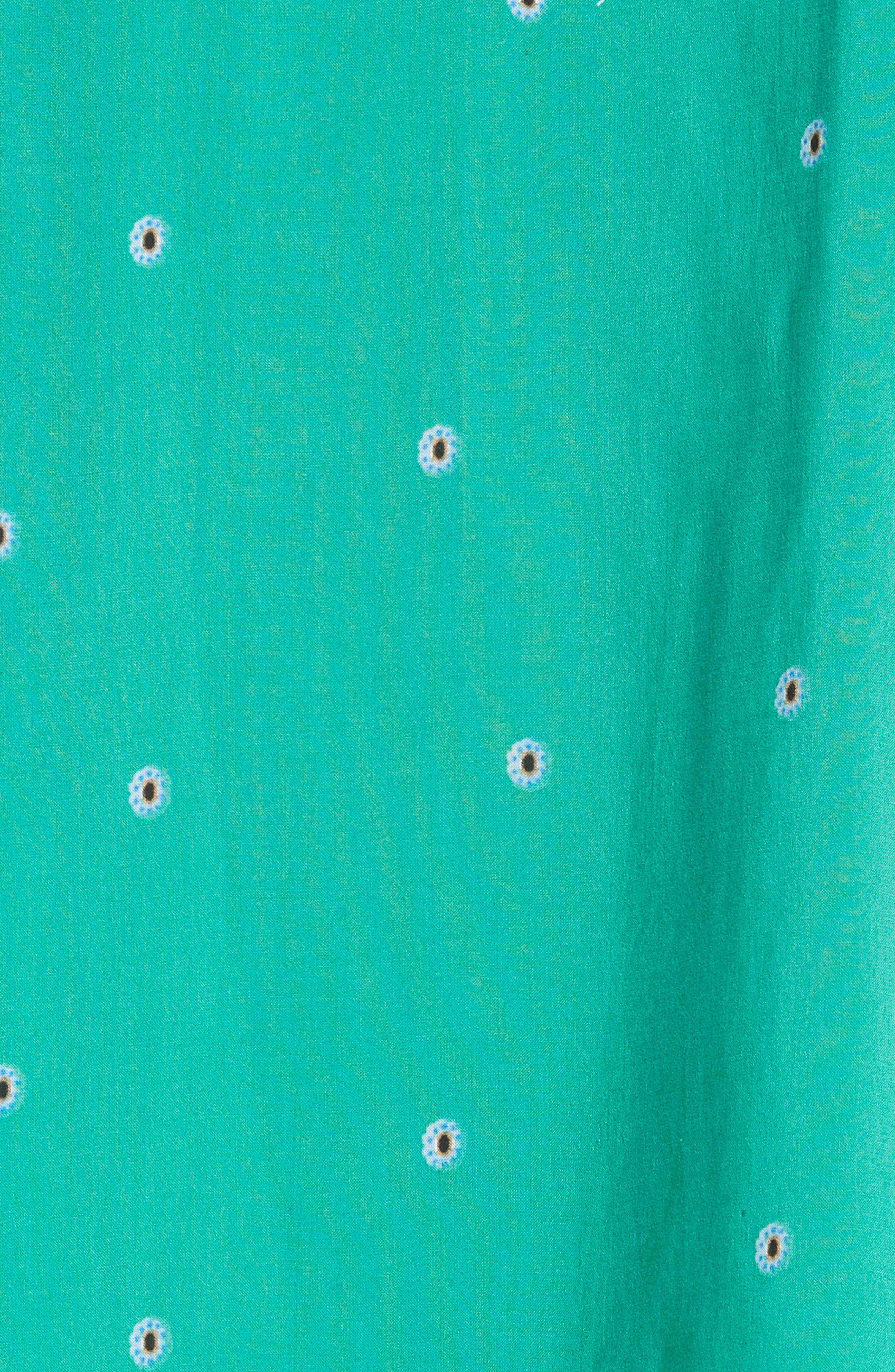 Darjeeling Print Minidress,                             Alternate thumbnail 5, color,                             Green