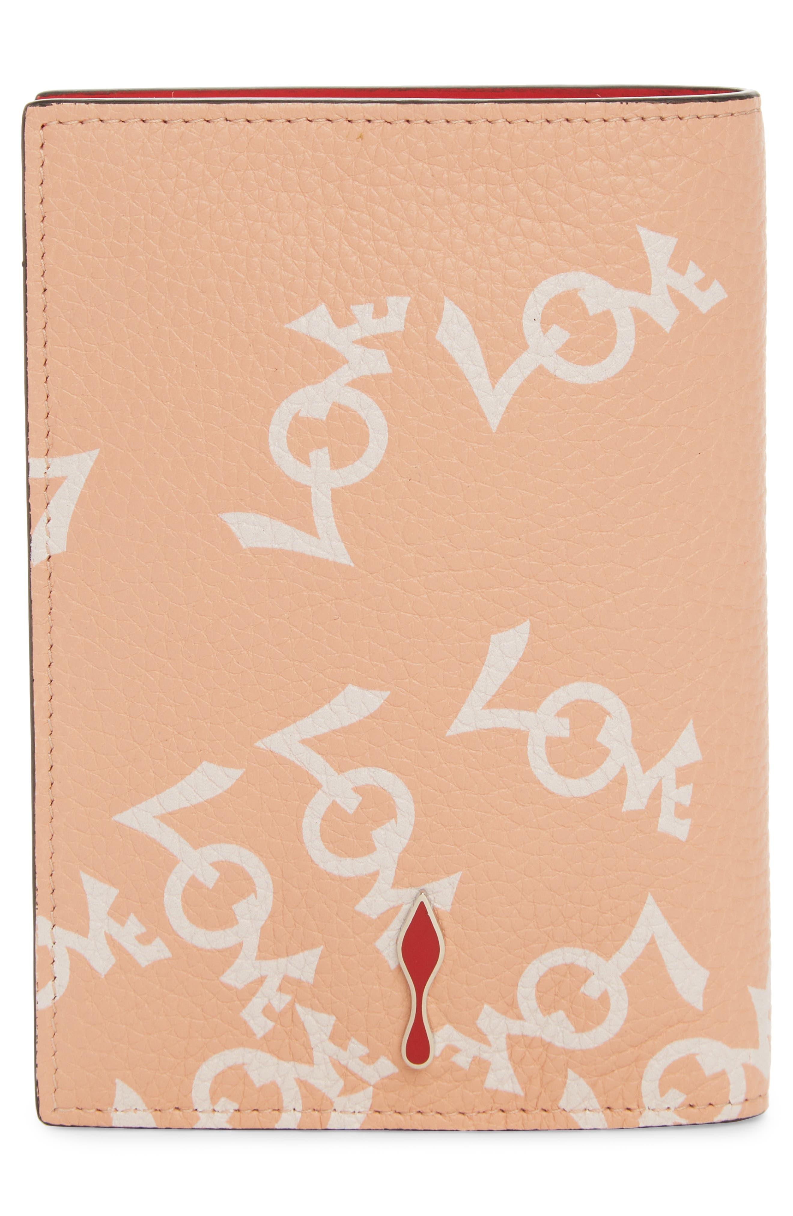 Loubipass Crazy Love Passport,                             Alternate thumbnail 3, color,                             Soie-Latte/ Silver