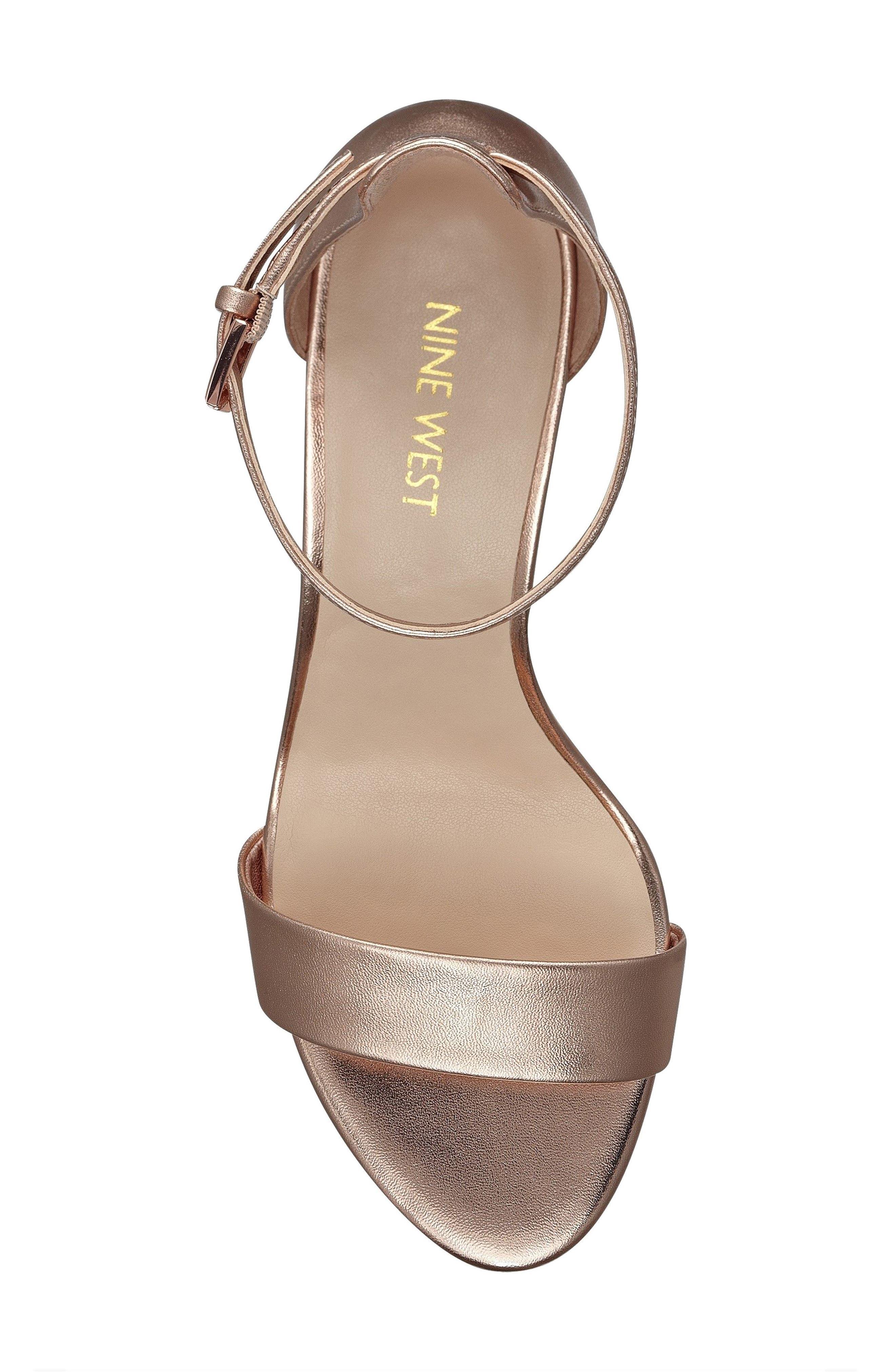 Pruce Ankle Strap Sandal,                             Alternate thumbnail 5, color,                             Matte Rose Gold