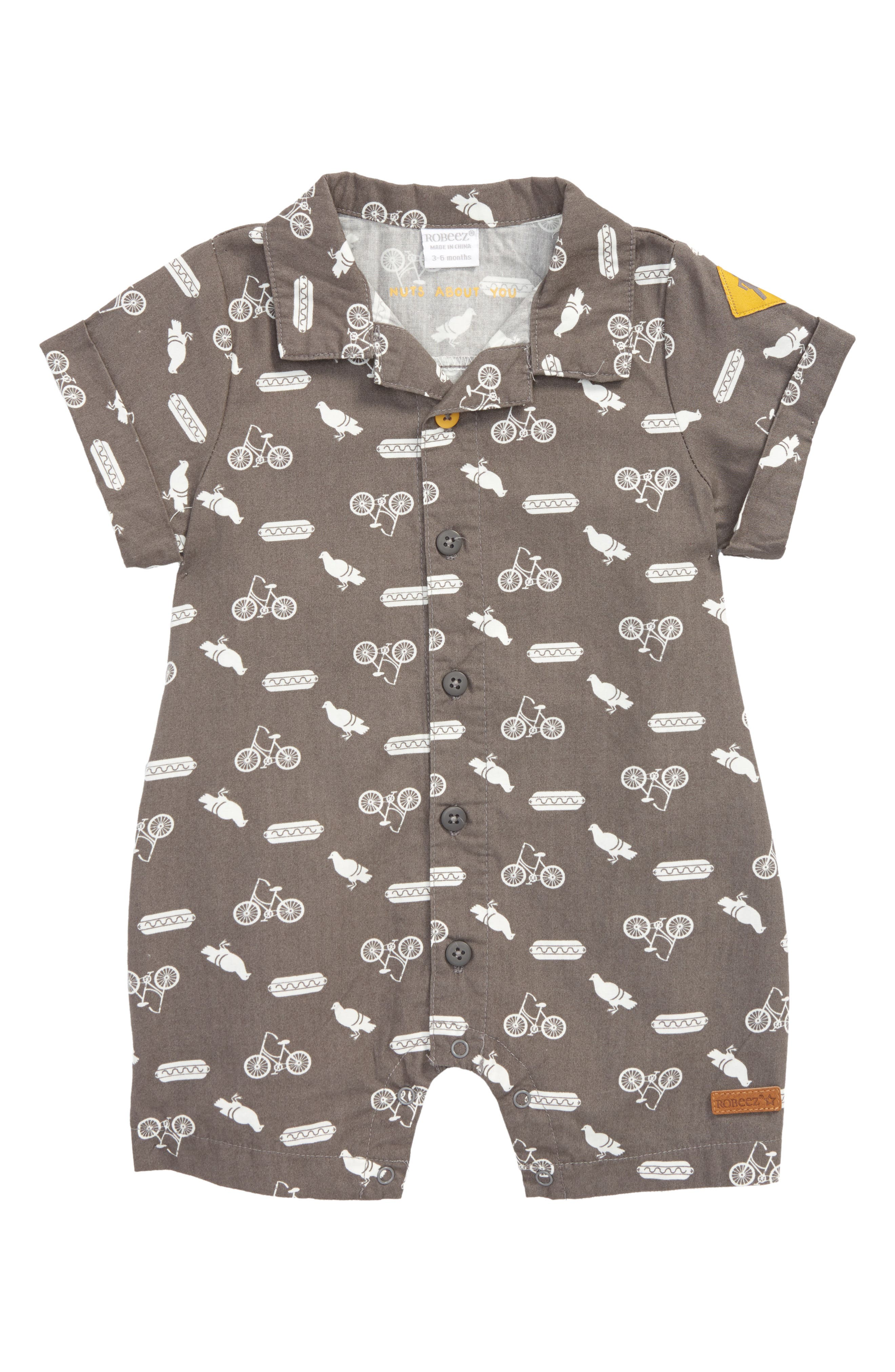 Alternate Image 1 Selected - Robeez® City Life Romper (Baby Boys)
