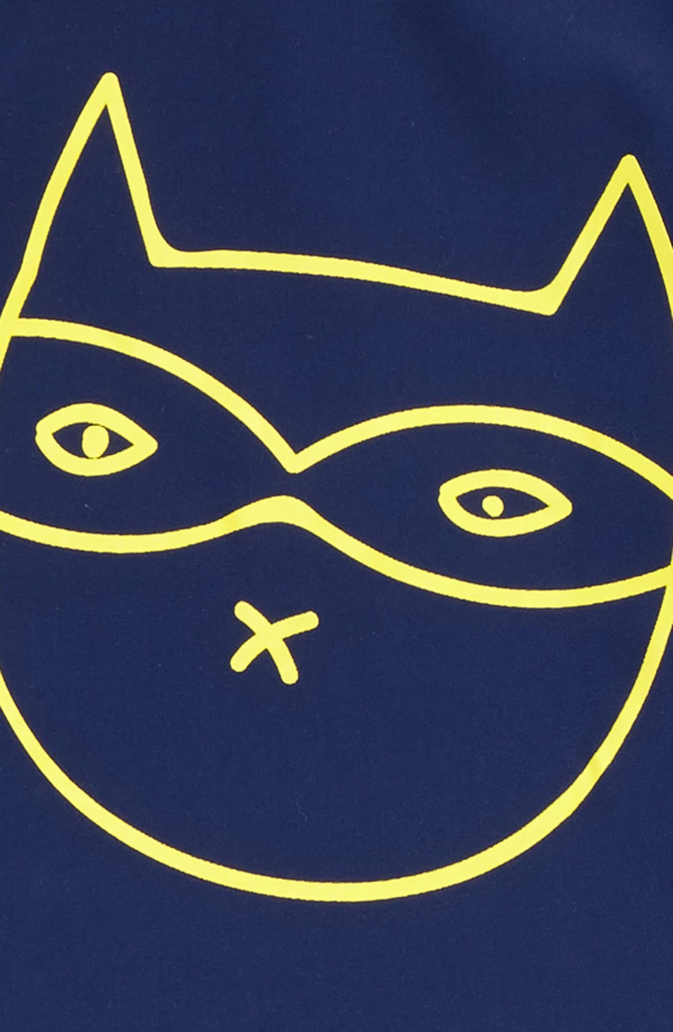 Alternate Image 2  - SOOKIbaby Cat Bandit Two-Piece Rashgaurd Swimsuit (Baby Boys & Toddler Boys)