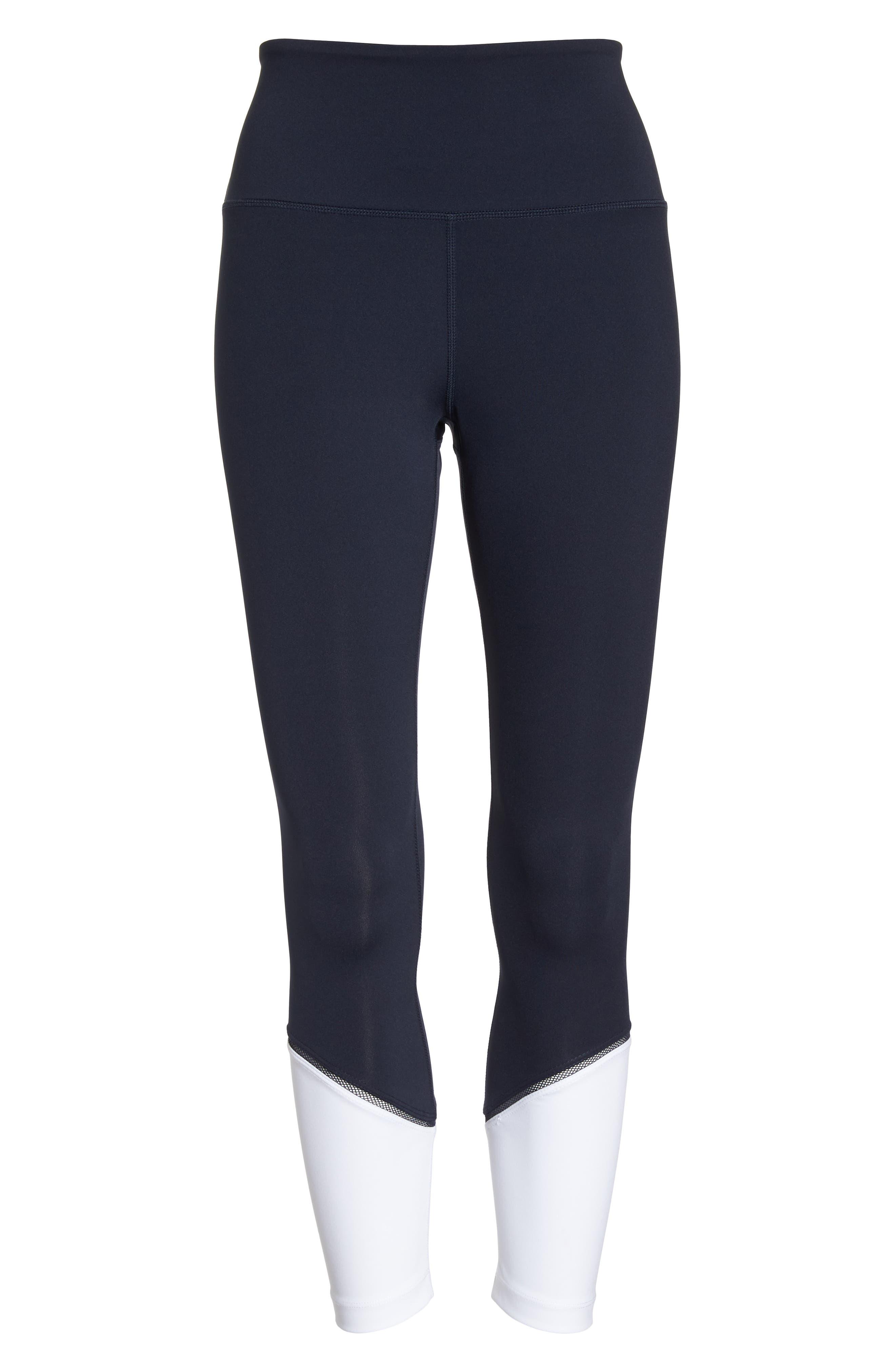 colorblock leggings,                             Alternate thumbnail 6, color,                             Rich Navy Multi